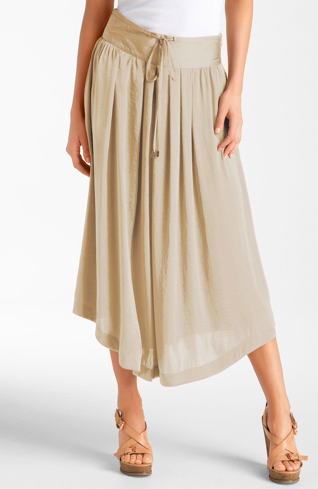 Alternate Image 1 Selected - Vince Camuto 'Shirttail Hem' Midi Skirt