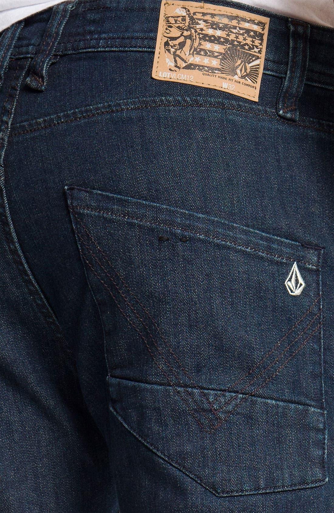 Alternate Image 4  - Volcom 'Nova' Slim Straight Leg Jeans (Los Tintos) (Online Only)