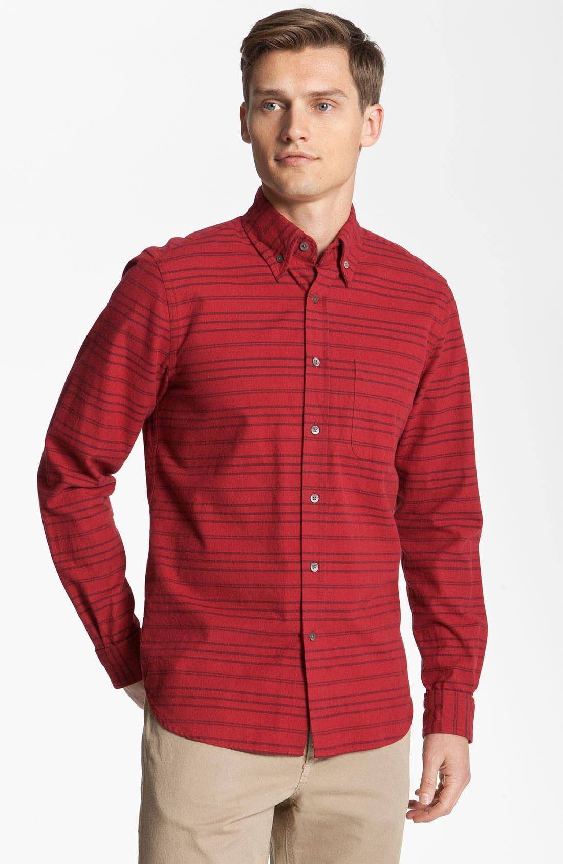 Alternate Image 1 Selected - Steven Alan 'Collegiate' Stripe Woven Shirt