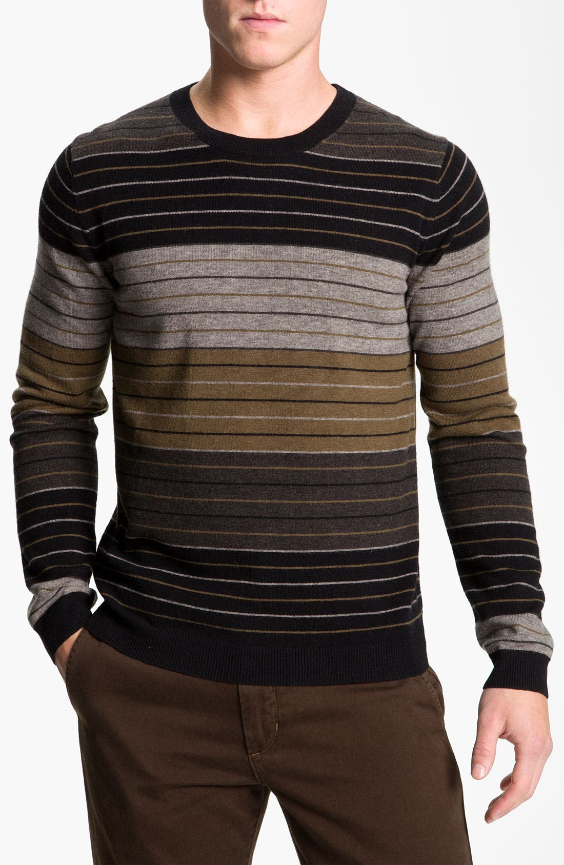 Main Image - Vince Color Block Stripe Sweater