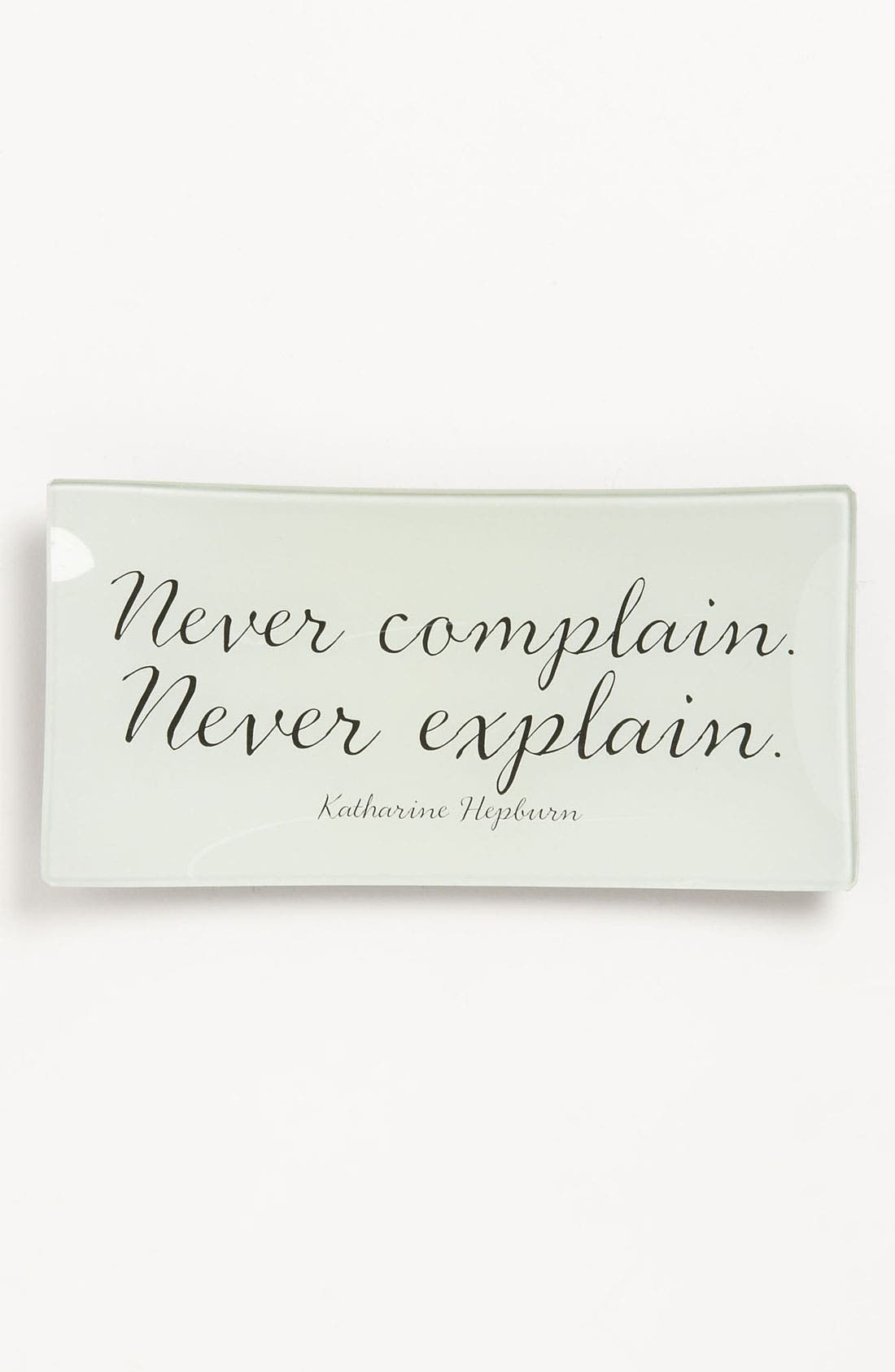 Alternate Image 1 Selected - Ben's Garden 'Never Complain' Trinket Tray