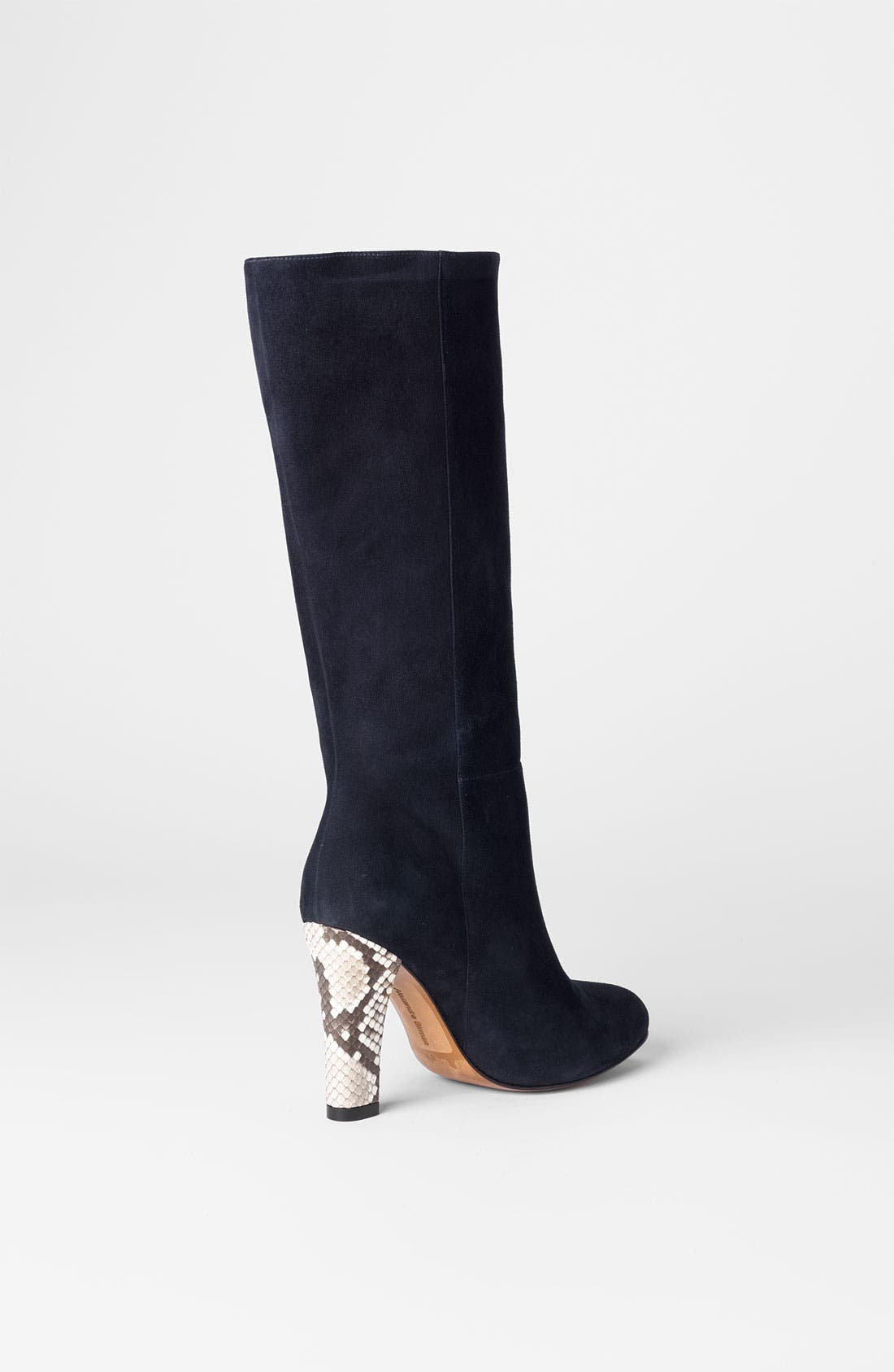 Alternate Image 2  - Alexandre Birman Suede & Genuine Python Tall Boot