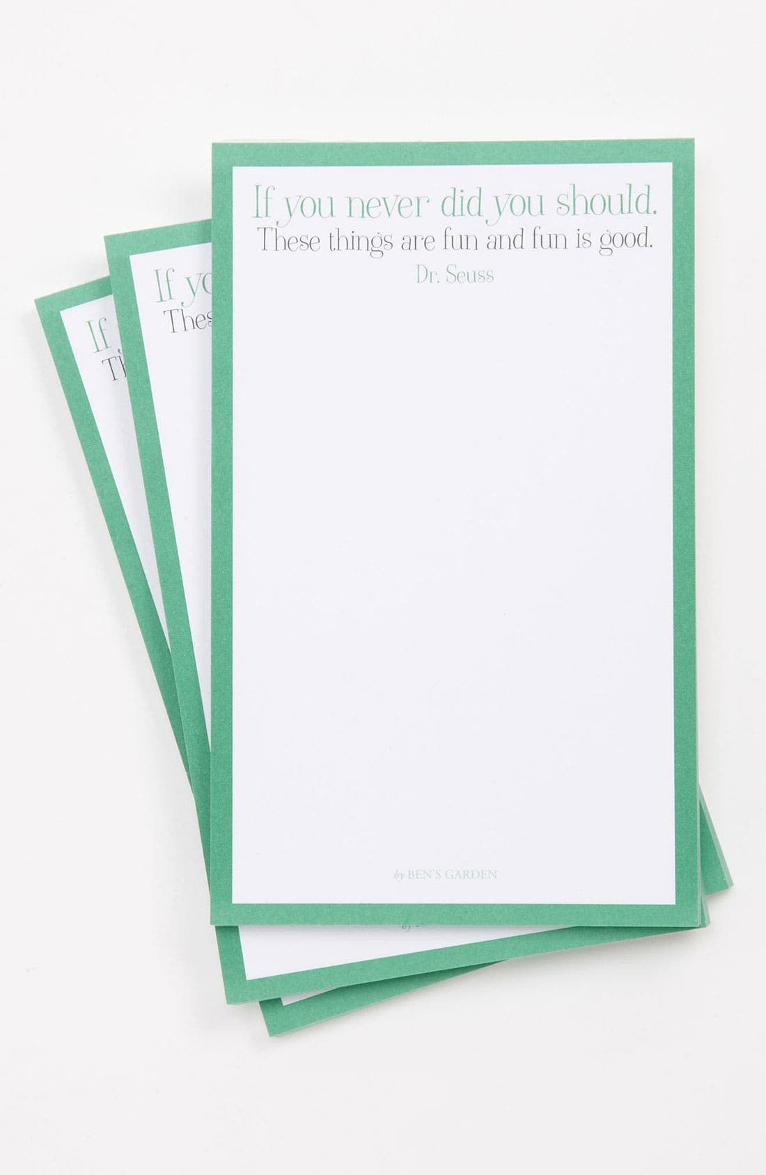 'And Fun Is Good' Notepads,                         Main,                         color, Green
