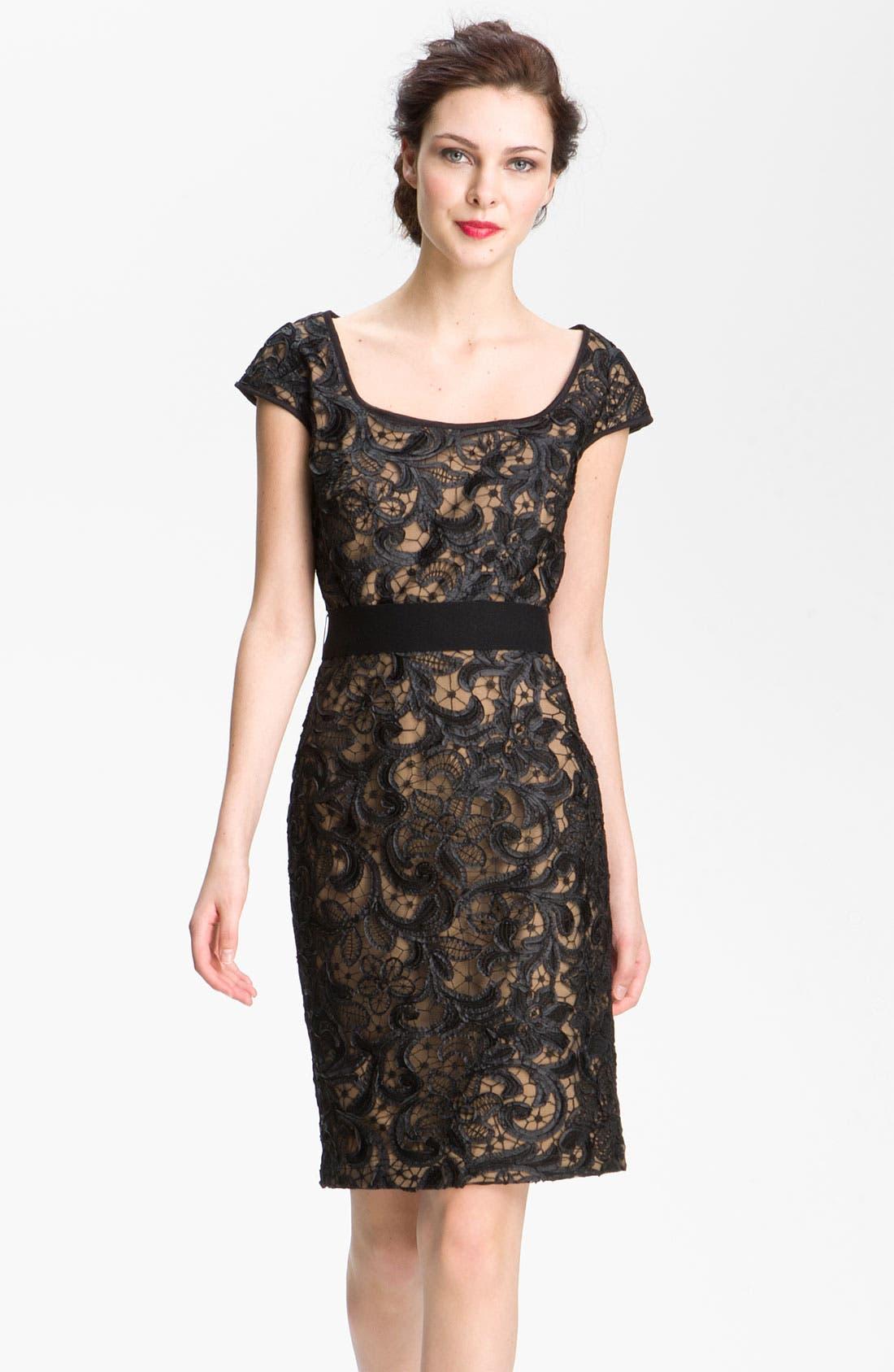 Main Image - T by Tadashi Lace Sheath Dress