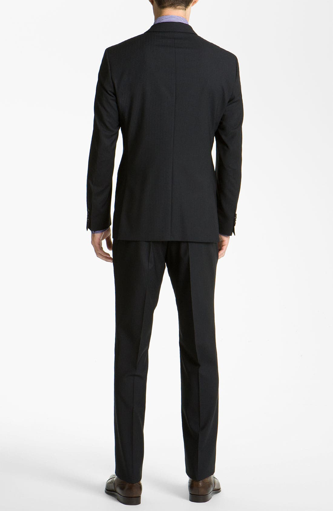 Alternate Image 3  - BOSS Black 'James/Sharp' Trim Fit Stripe Suit