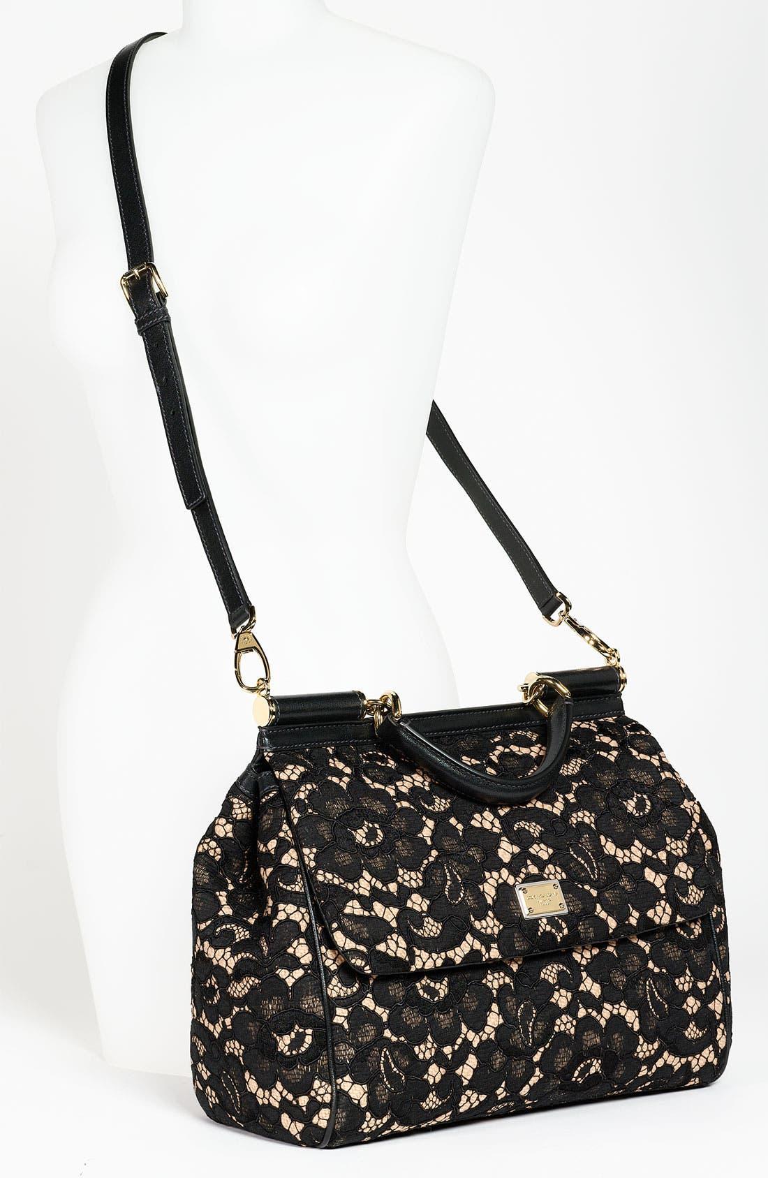 Alternate Image 2  - Dolce&Gabbana 'Miss Sicily' Leather & Lace Satchel