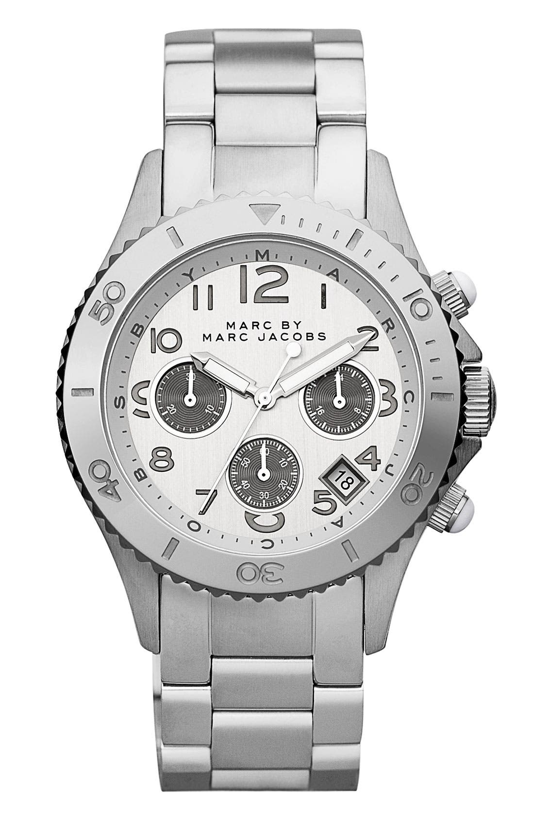 Alternate Image 1 Selected - MARC JACOBS 'Rock' Chronograph Bracelet Watch