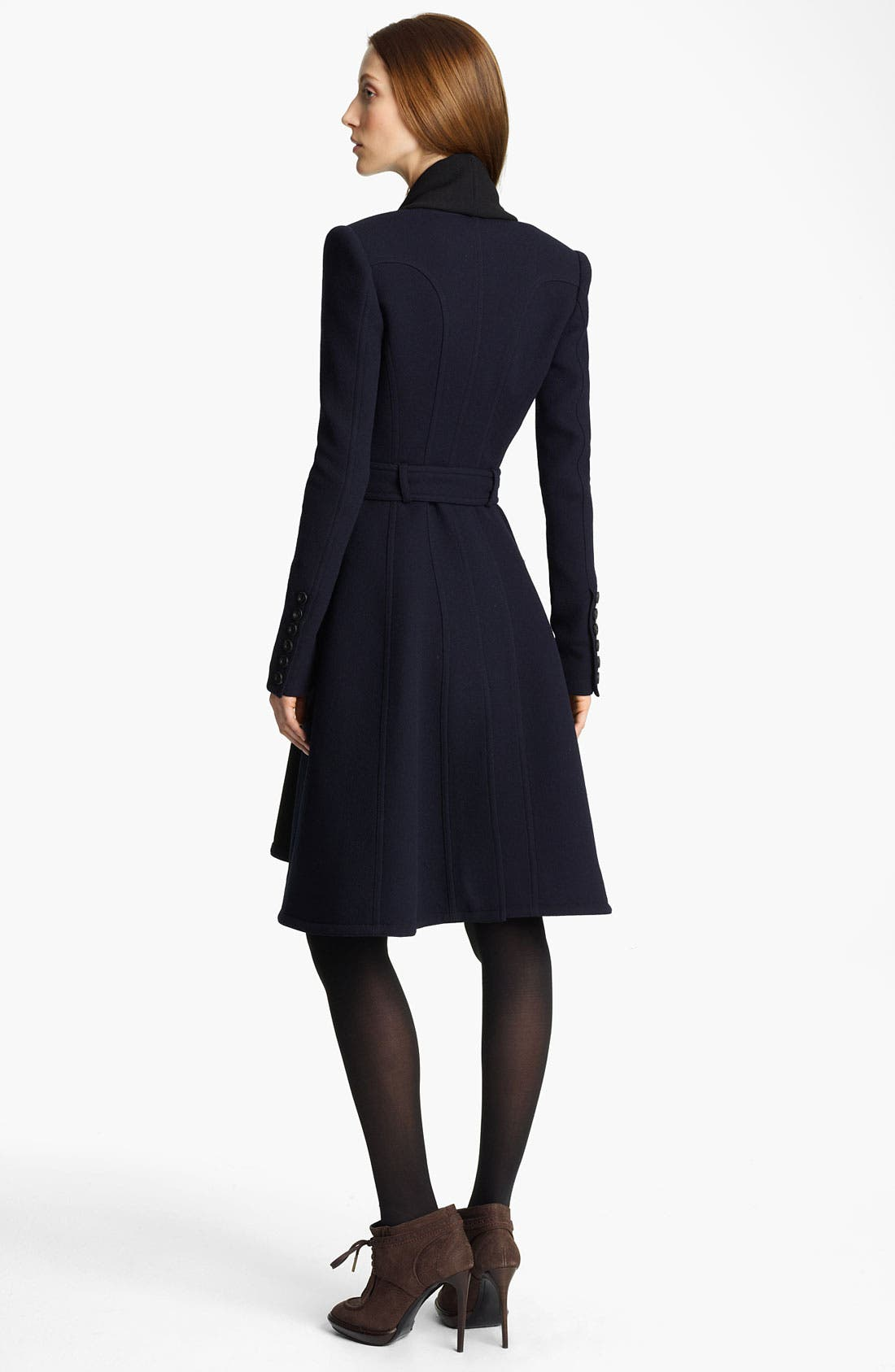 Alternate Image 2  - Burberry Prorsum Belted Drape Front Coat