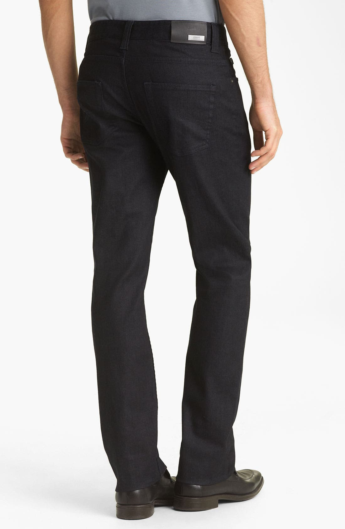 Alternate Image 2  - Armani Collezioni Slim Straight Leg Jeans (Indigo Dark Rinse)
