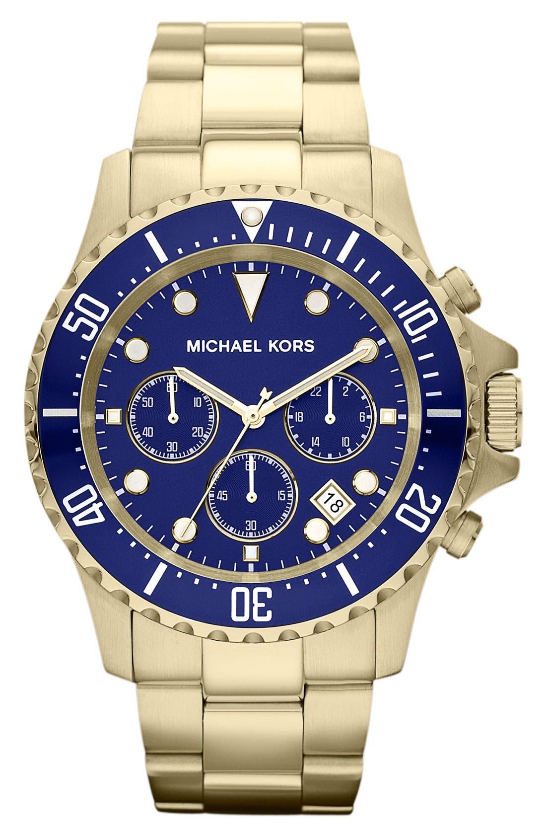 Alternate Image 1 Selected - Michael Kors 'Everest' Chronograph Bracelet Watch, 45mm