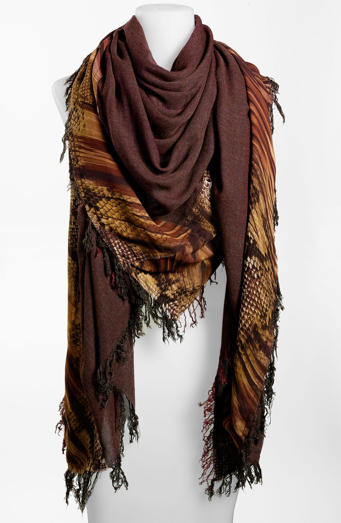 Alternate Image 1 Selected - Nordstrom Collection Snake Print Scarf