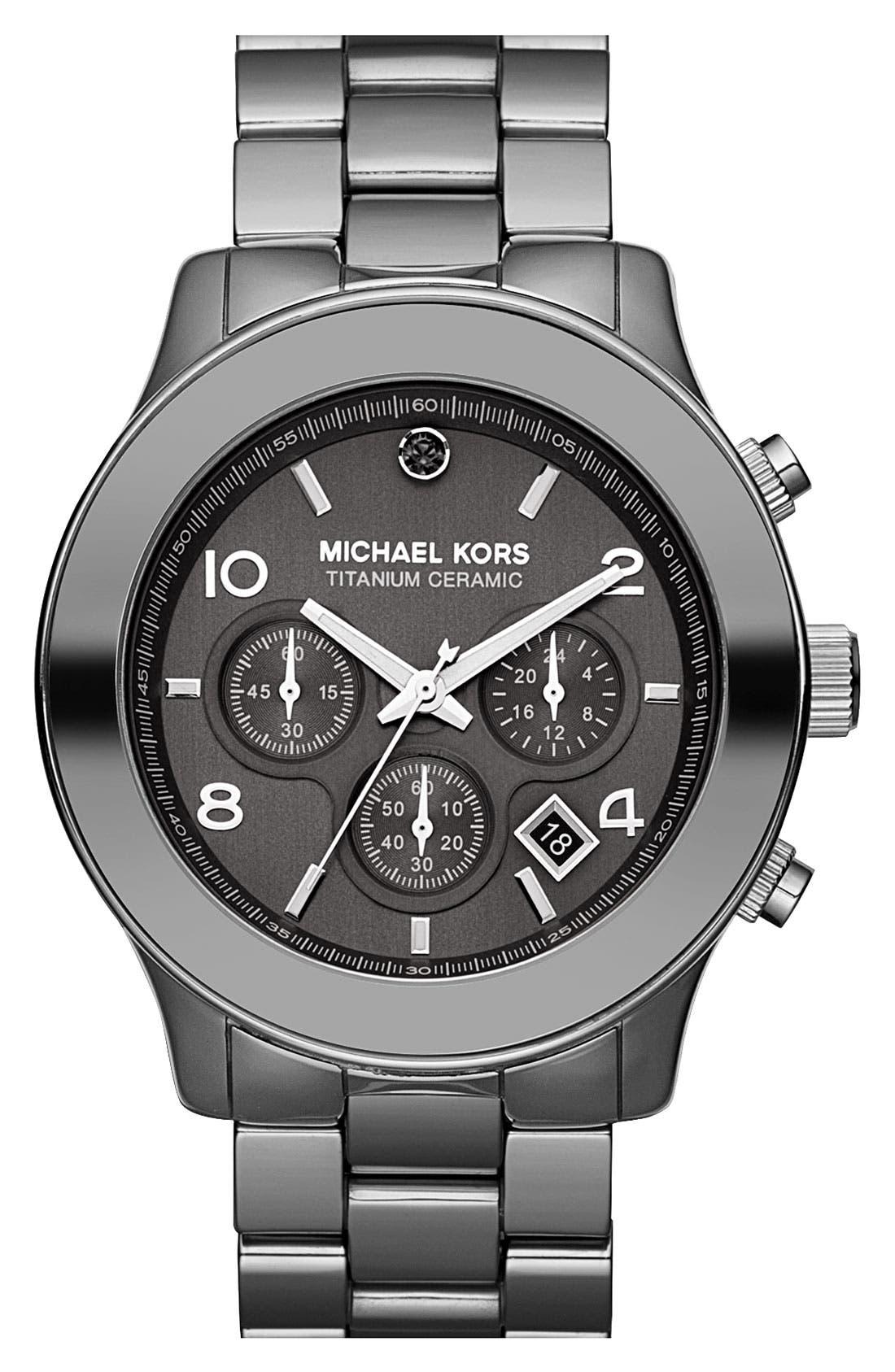 Alternate Image 1 Selected - Michael Kors 'Runway' Titanium Ceramic Bracelet Watch