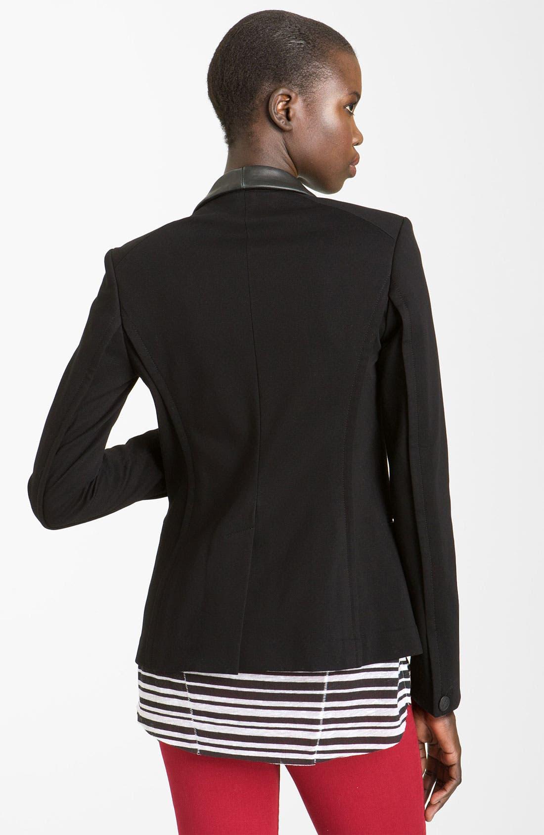 Alternate Image 2  - rag & bone Leather Trim Tuxedo Jacket