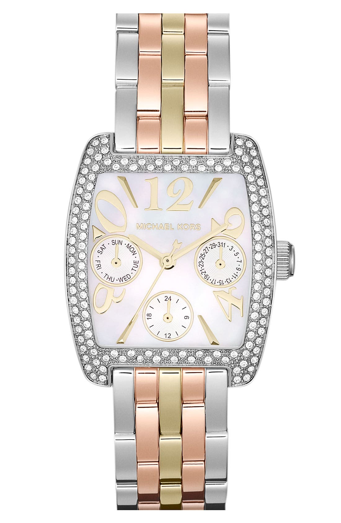 Main Image - Michael Kors 'Emma' Square Bracelet Watch