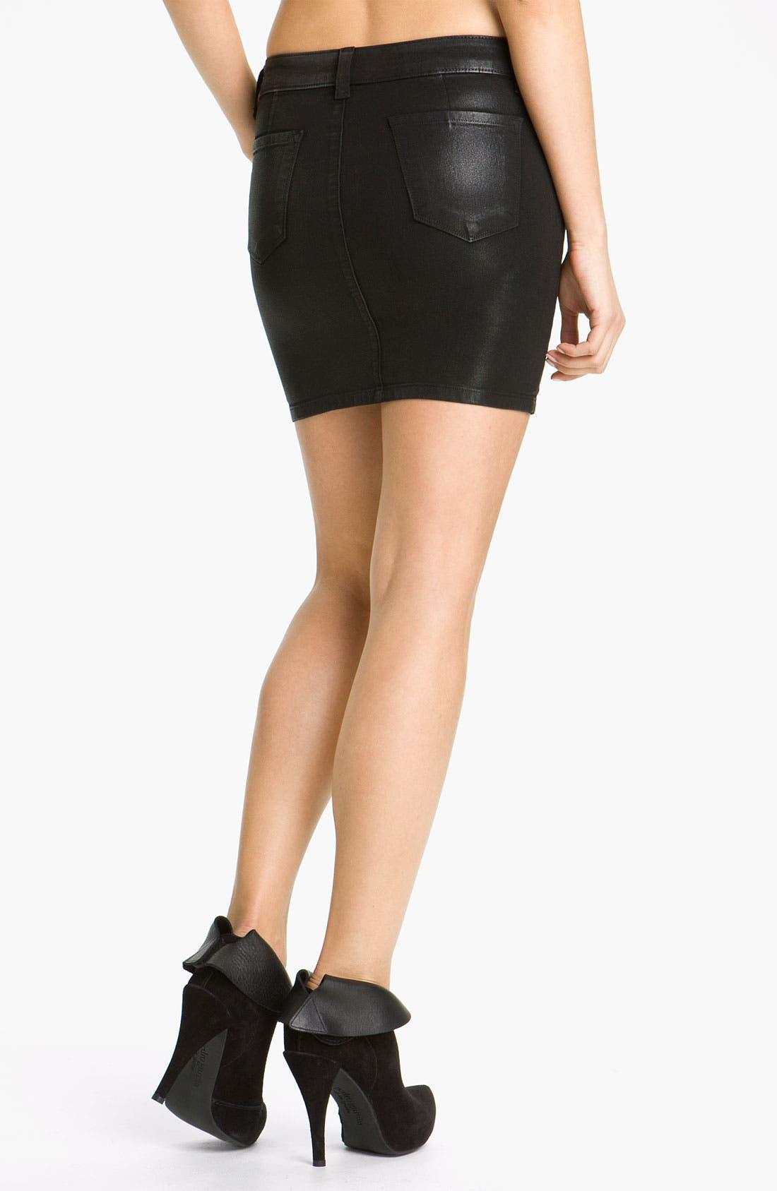 Alternate Image 2  - J Brand 'Nikko' Coated Denim Skirt