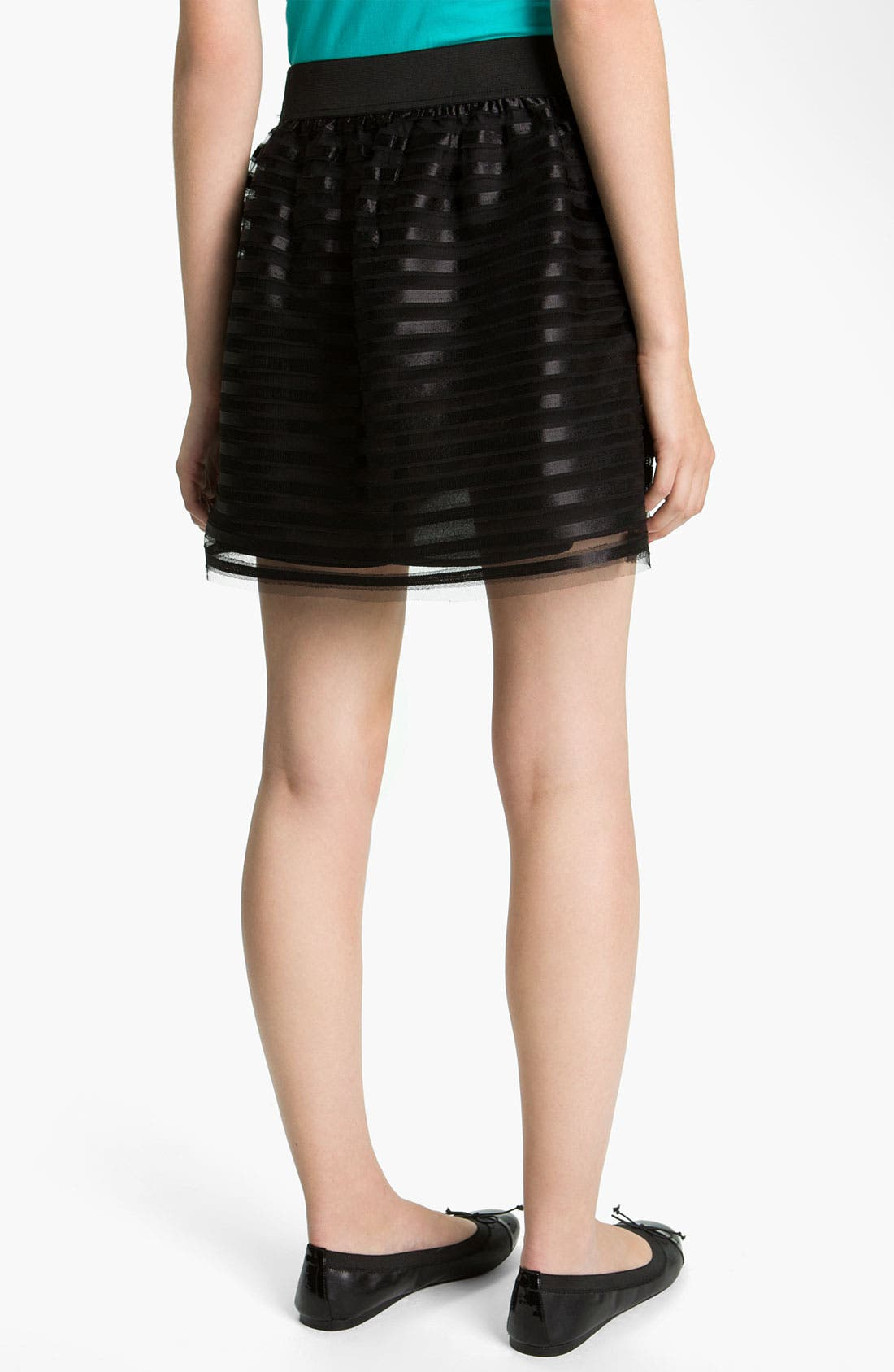 Alternate Image 2  - Necessary Objects Satin Ribbon Skirt (Juniors)