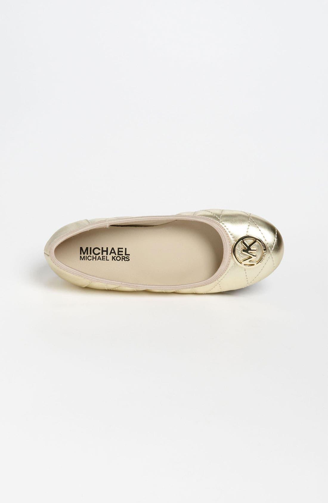 Alternate Image 3  - MICHAEL Michael Kors 'Faye' Flat (Toddler, Little Kid & Big Kid)