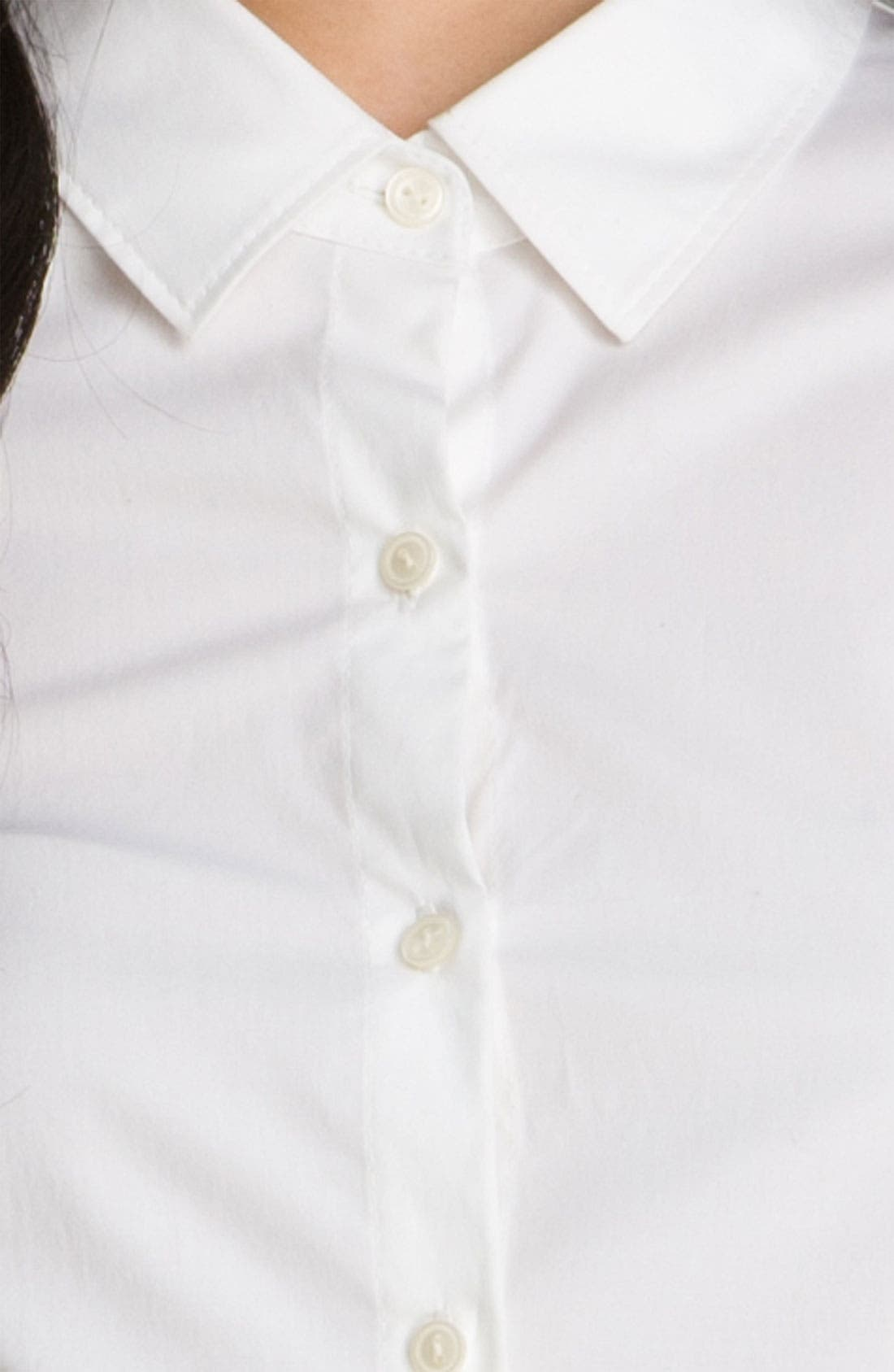 Alternate Image 3  - Halogen® Stretch Cotton Shirt