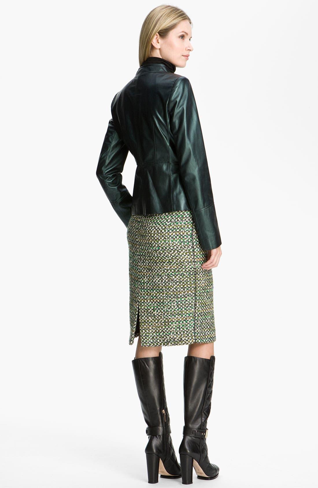 Alternate Image 5  - Lafayette 148 New York Pearlized Leather Jacket
