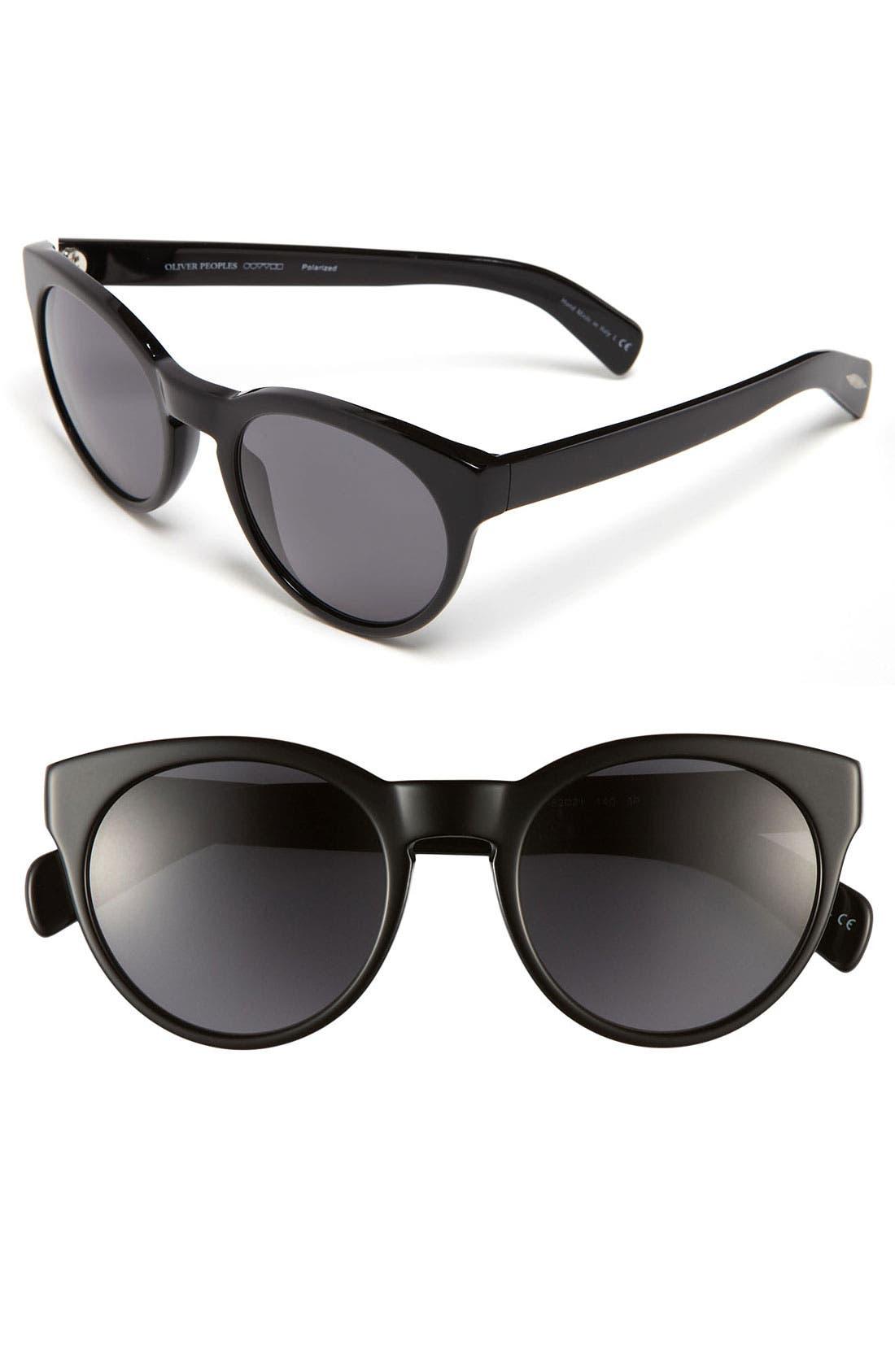 Main Image - Oliver Peoples 52mm Polarized Sunglasses