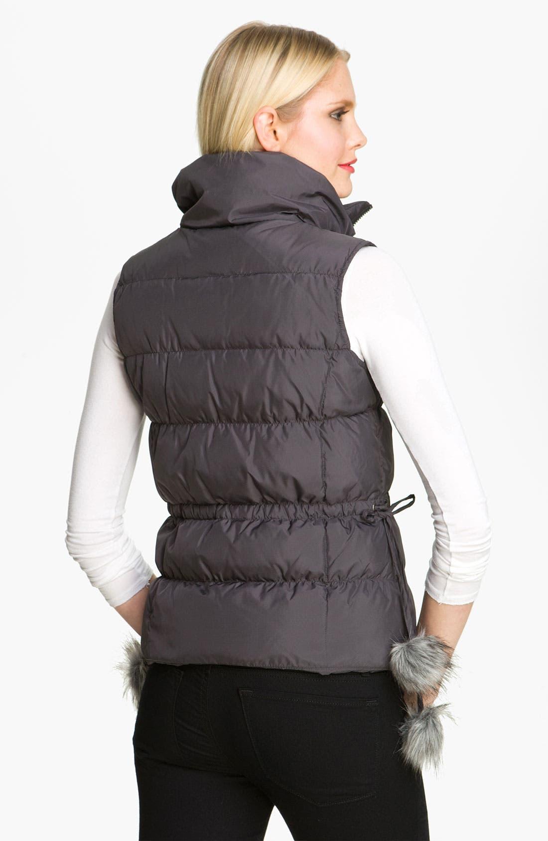 Alternate Image 2  - Betsey Johnson Pompom Quilted Vest