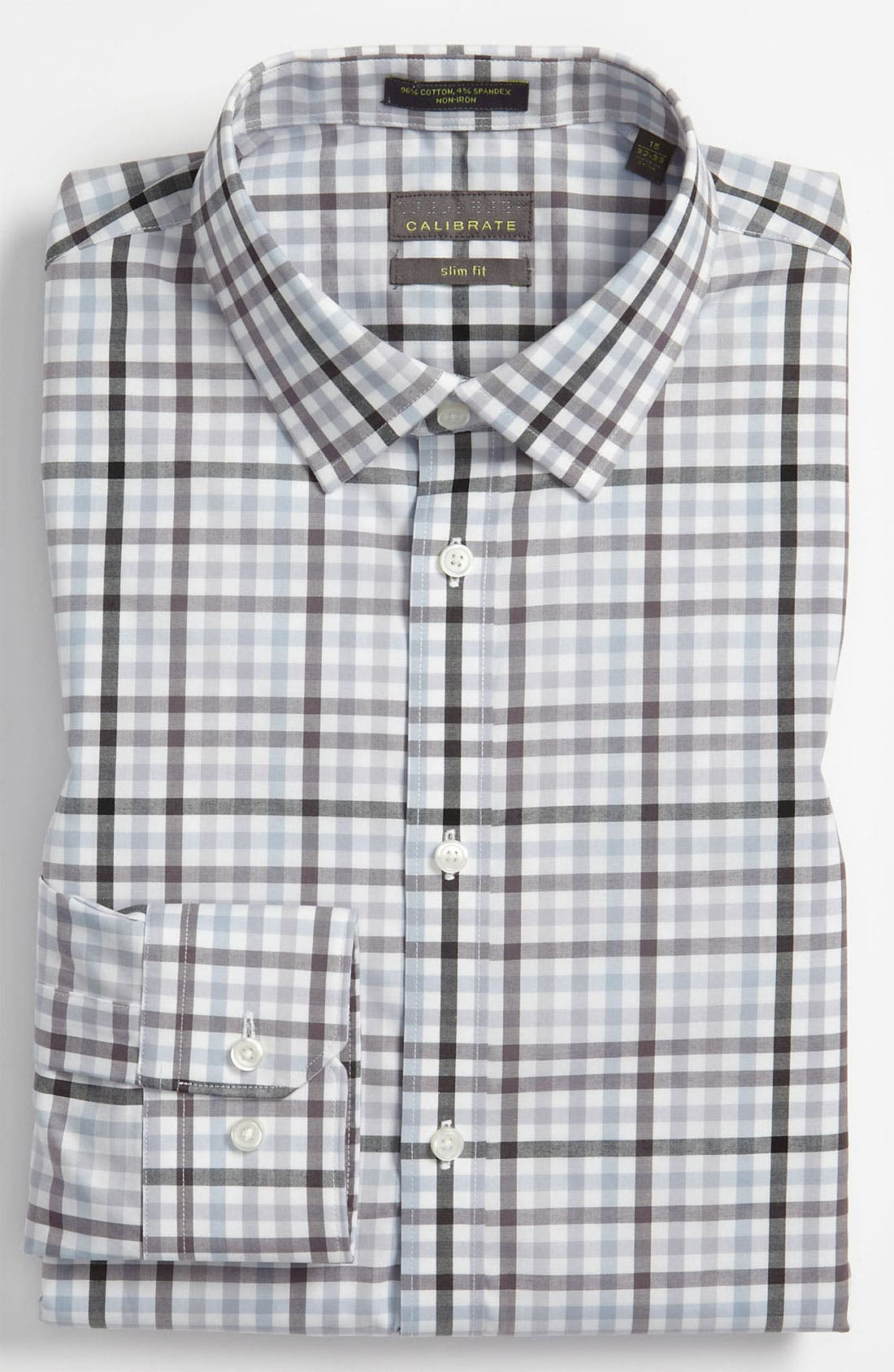 Alternate Image 1 Selected - Calibrate Slim Fit Non Iron Dress Shirt