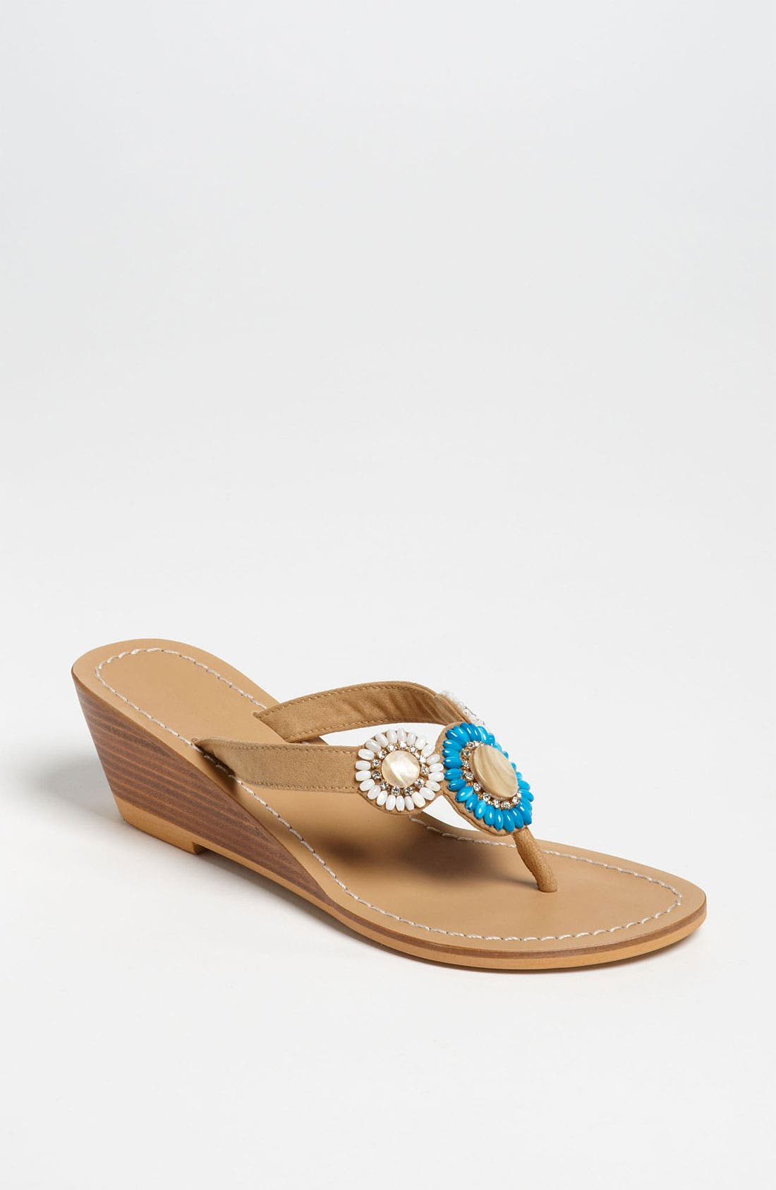 Alternate Image 1 Selected - Skemo Beaded Thong Sandal