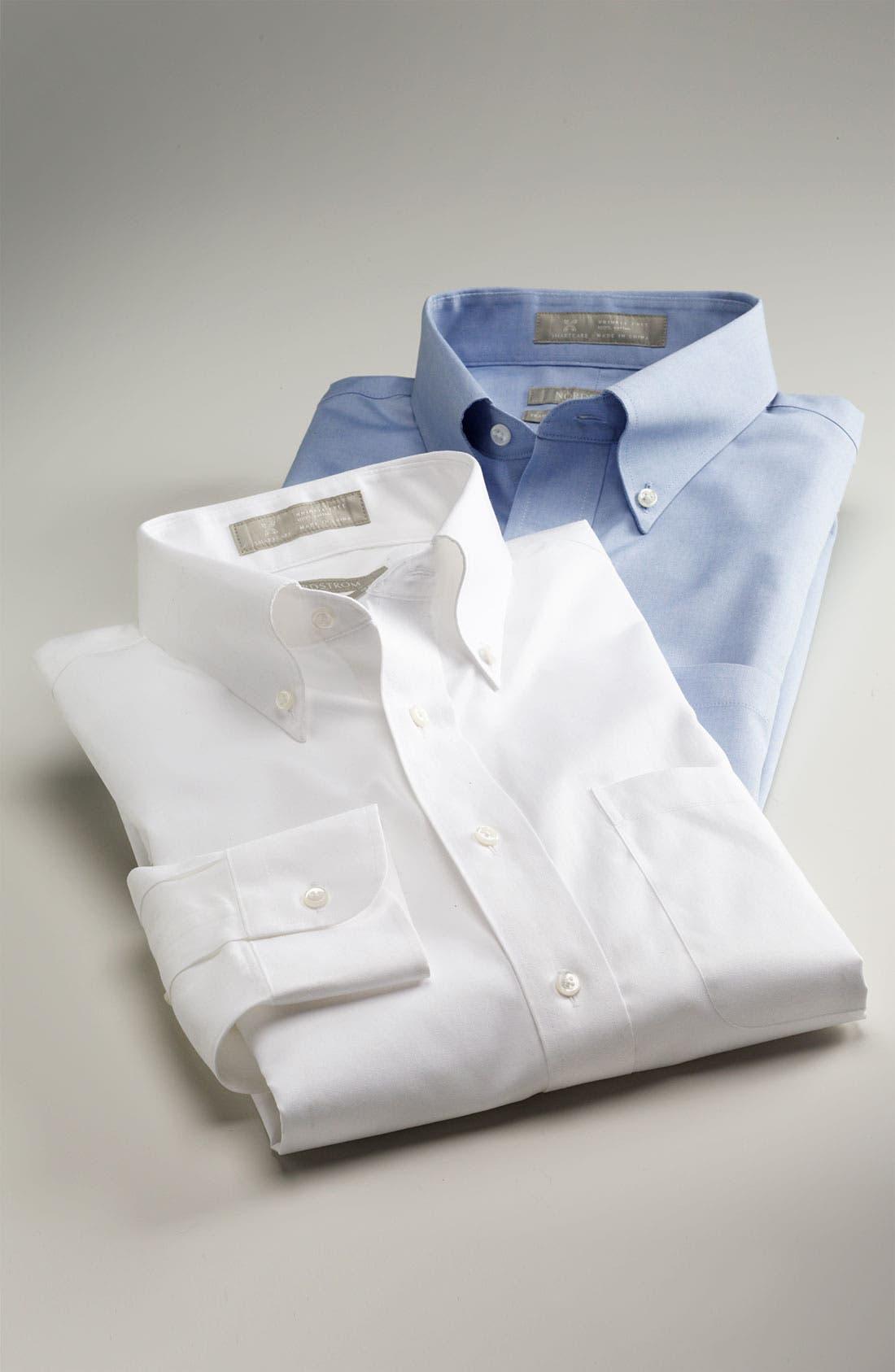 Alternate Image 3  - Nordstrom Men's Shop Smartcare™ Traditional Fit Pinpoint Dress Shirt