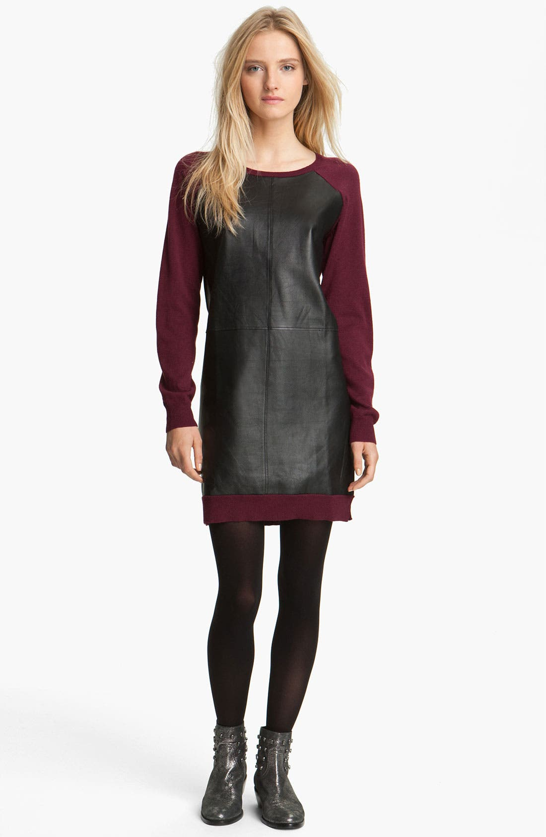 Main Image - Zadig & Voltaire Leather & Knit Dress