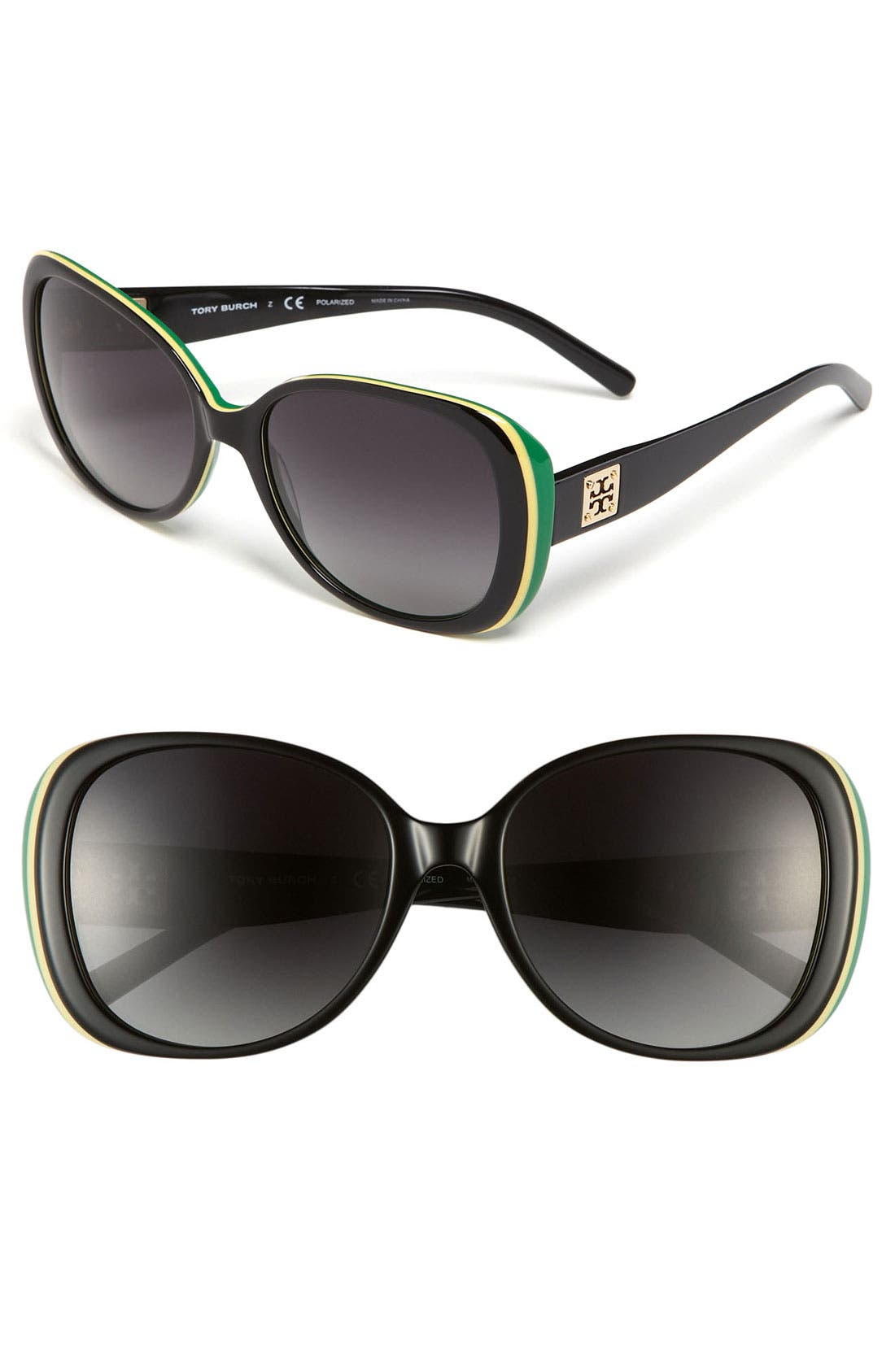 Alternate Image 1 Selected - Tory Burch 57mm Polarized Oversized Sunglasses