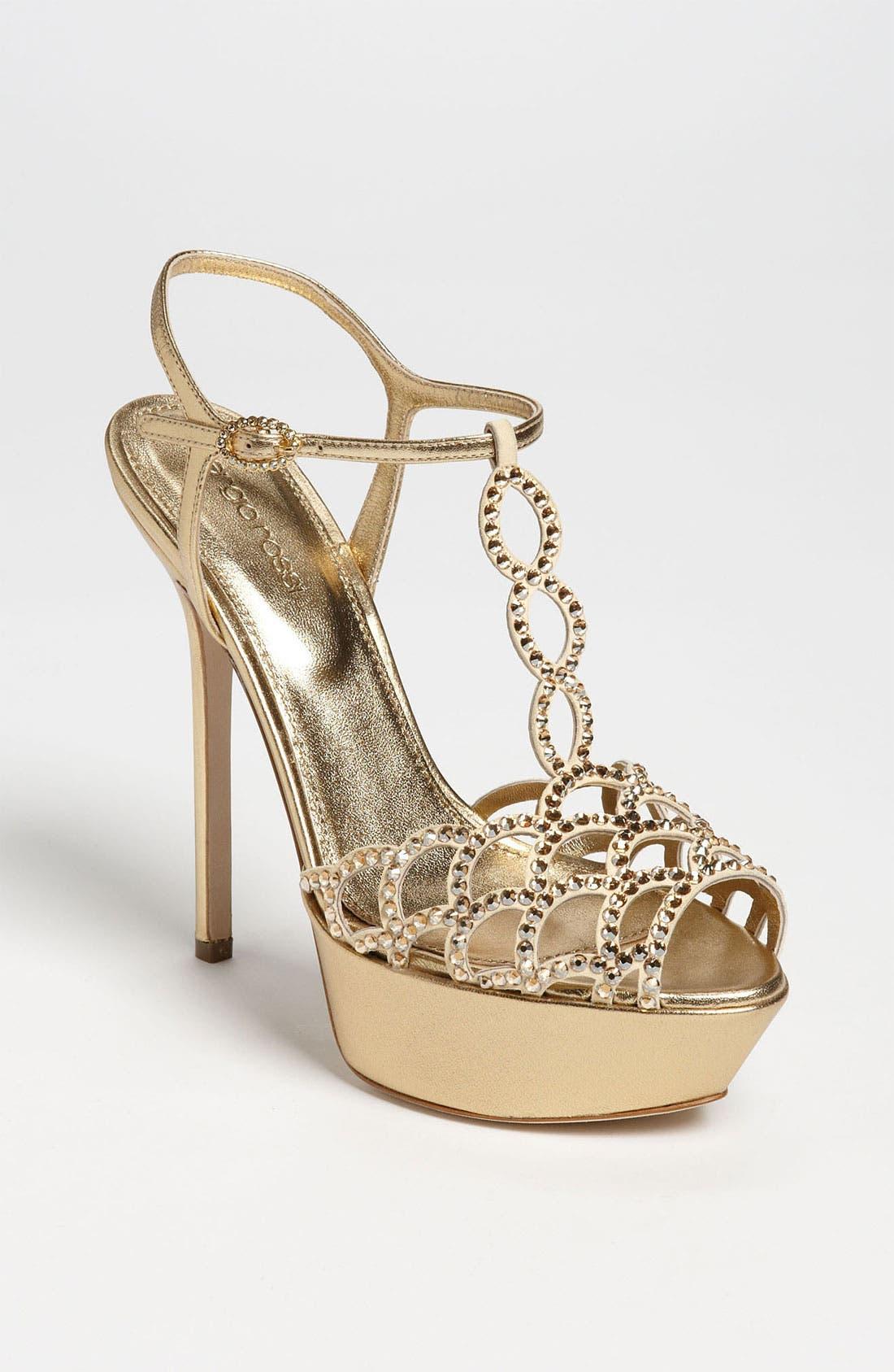 Main Image - Sergio Rossi Crystal Platform Sandal