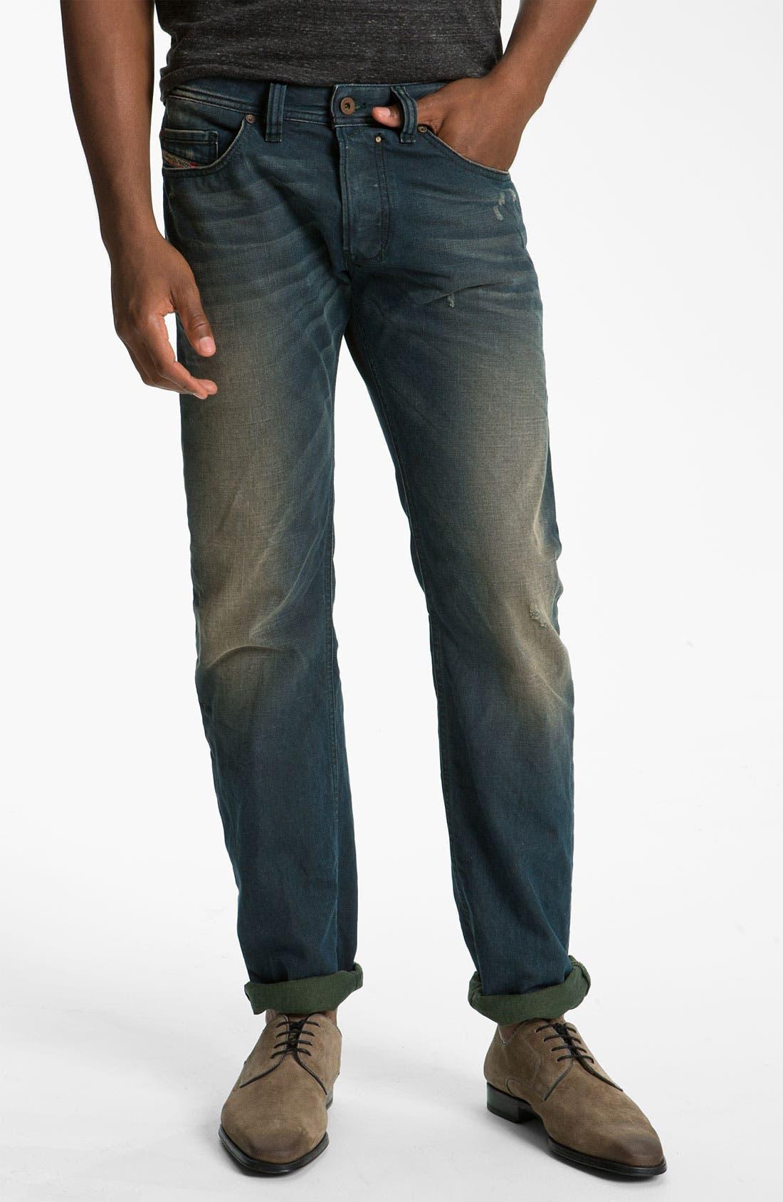 Alternate Image 1 Selected - DIESEL® 'Safado' Slim Straight Leg Jeans (0804Z)