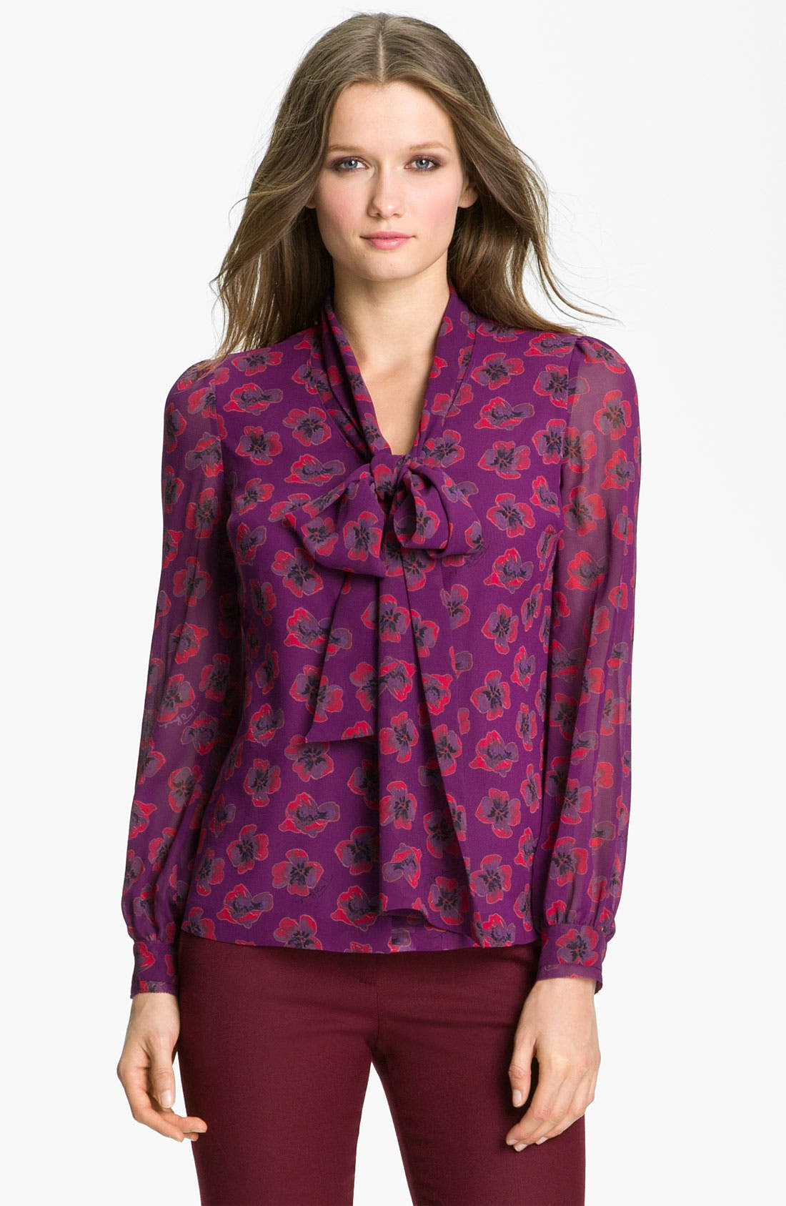 Alternate Image 1 Selected - Tory Burch 'Bryce' Silk Blouse