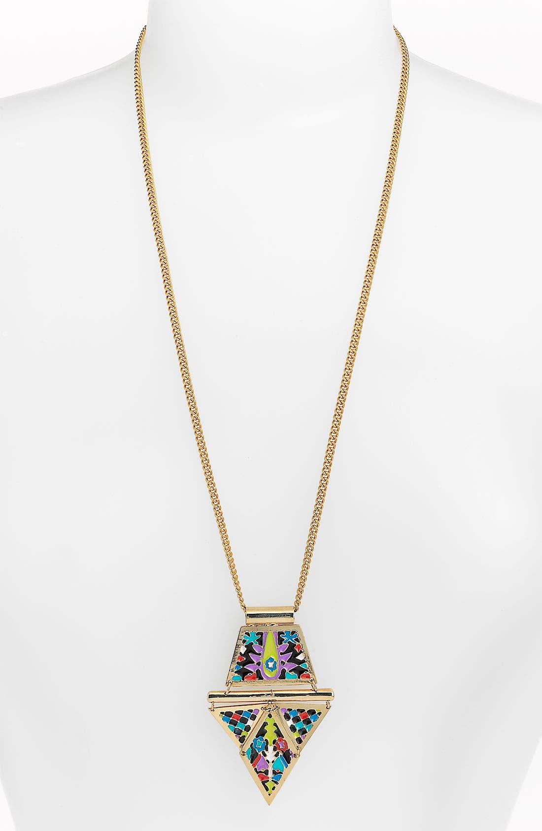 Main Image - Noir Enamel Pendant Necklace