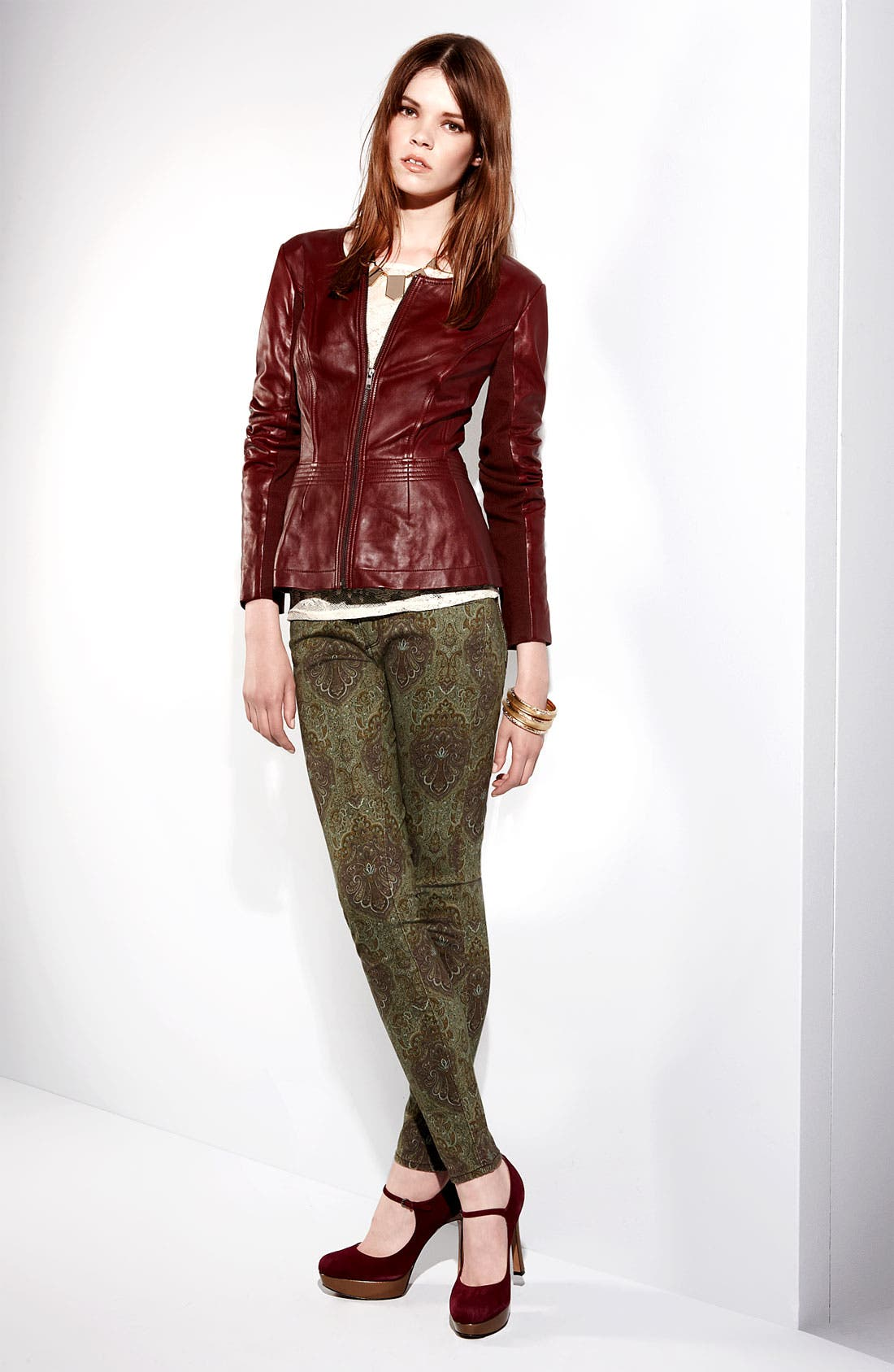Alternate Image 4  - Paige Denim 'Verdugo' Print Skinny Jeans (Estate Green Paisley)