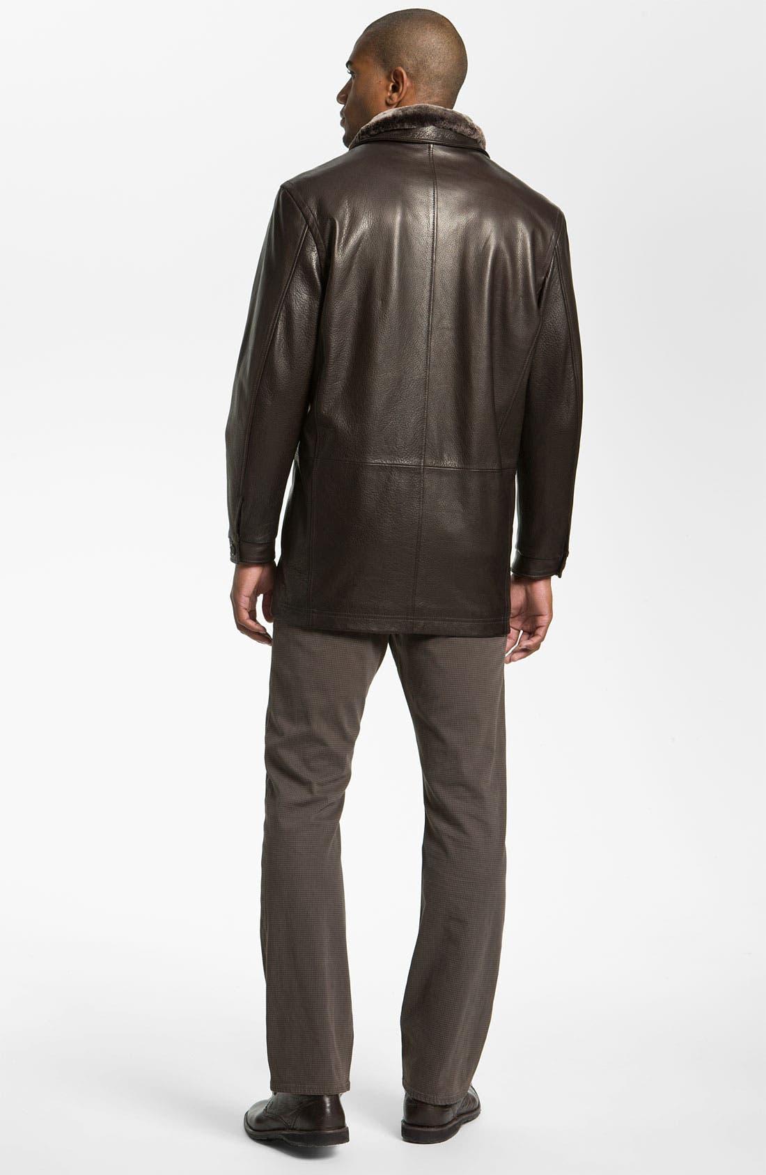 Alternate Image 5  - Remy Leather Calfskin Leather Jacket