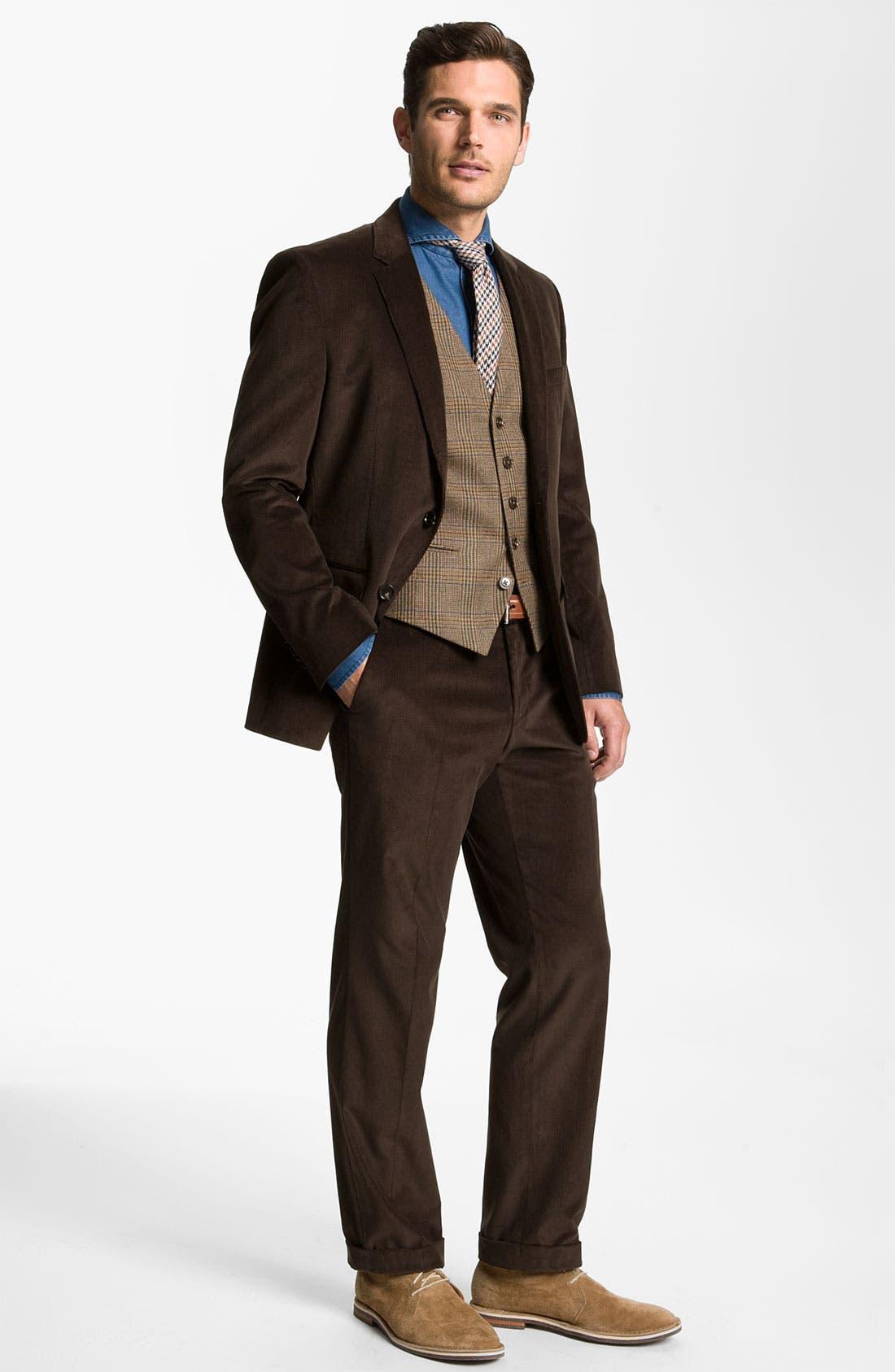 Alternate Image 2  - BOSS Black 'James/Sharp' Trim Fit Corduroy Suit