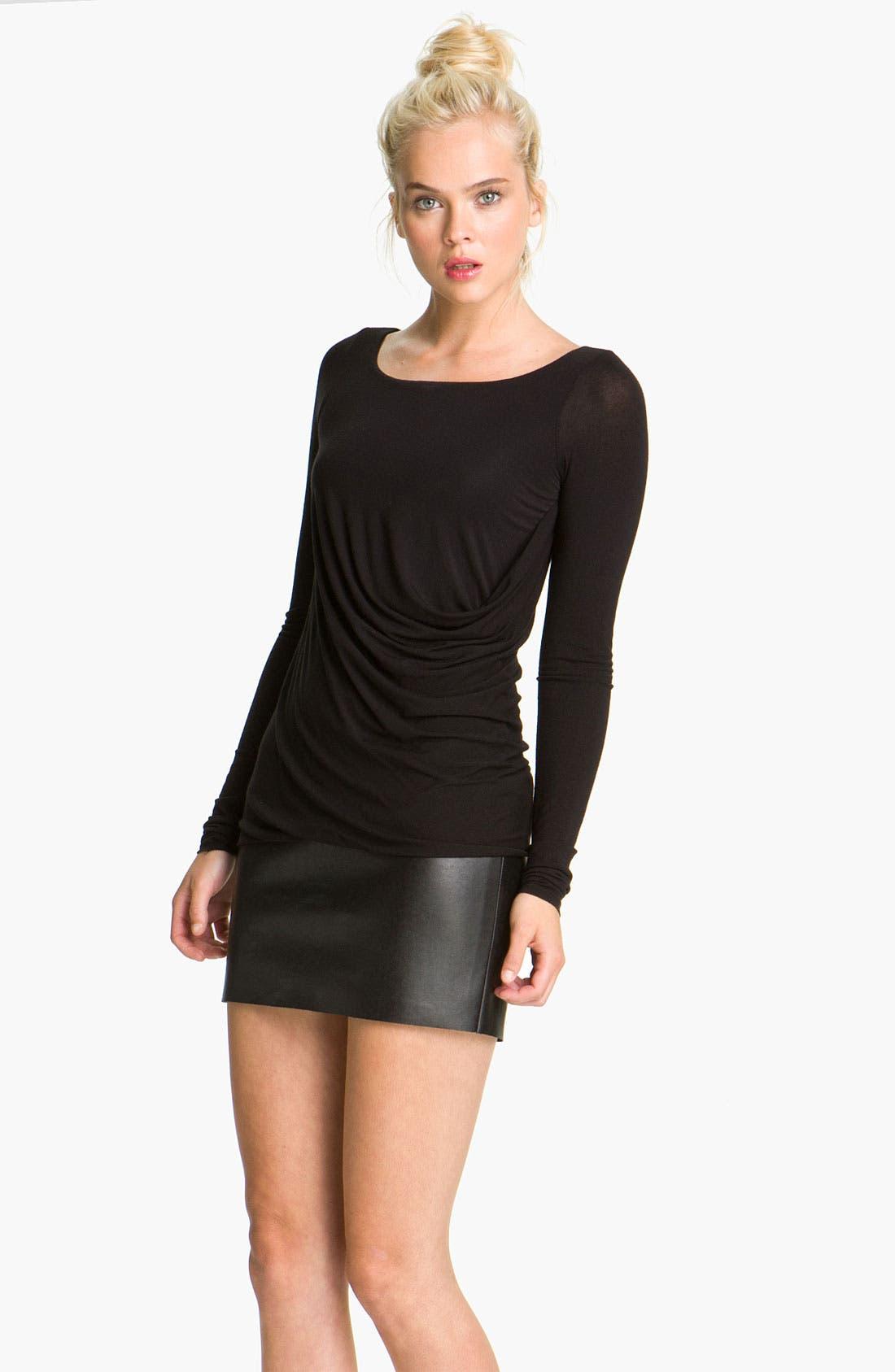 Main Image - Bailey 44 'Drop Out' Faux Leather Trim Dress