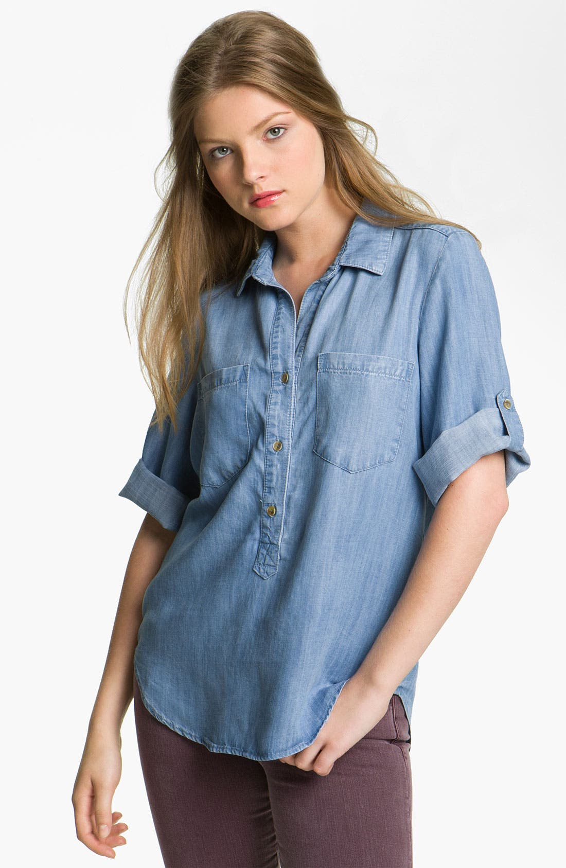 Alternate Image 1 Selected - Bella Dahl Chambray Shirt