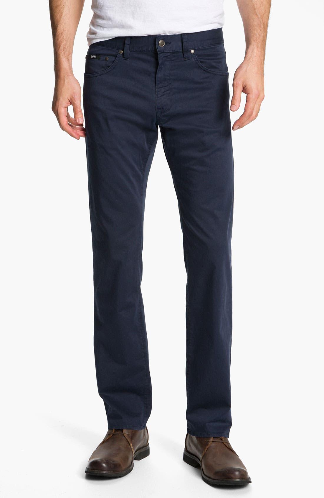 Alternate Image 1 Selected - BOSS Black 'Maine' Five Pocket Pants