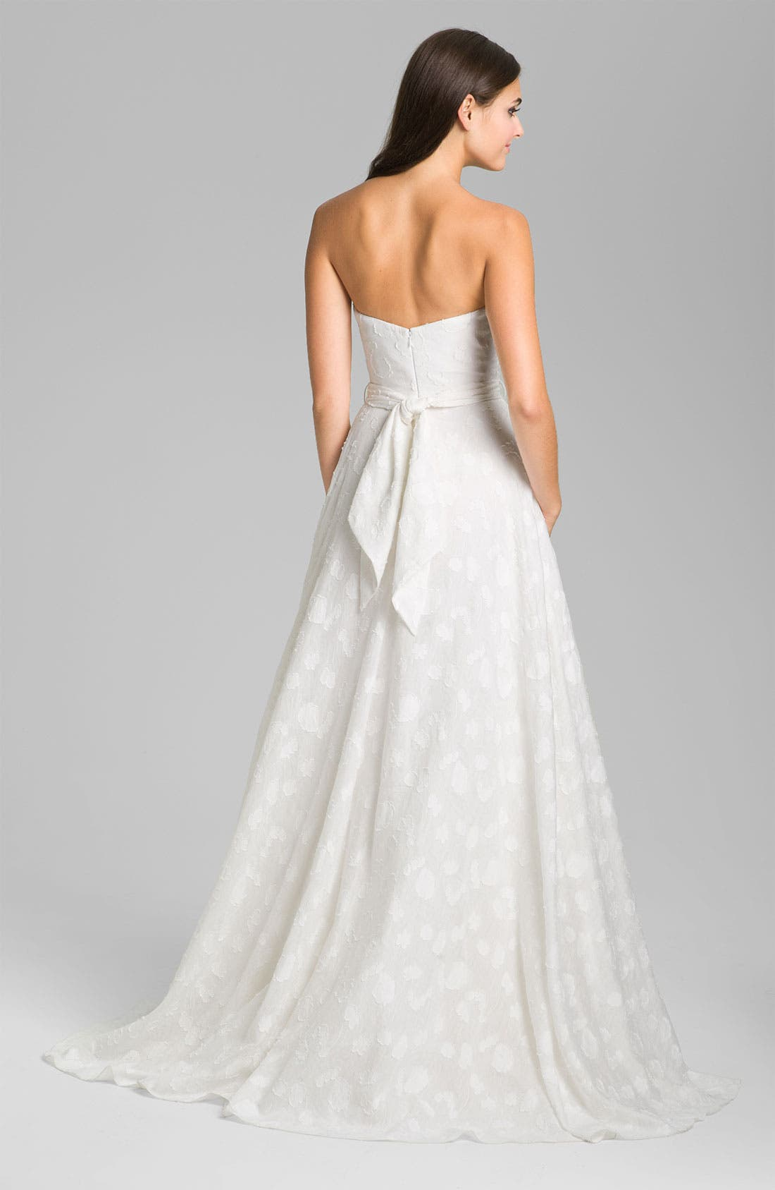 Alternate Image 2  - Theia Fil Coupe Jacquard Sweetheart Gown