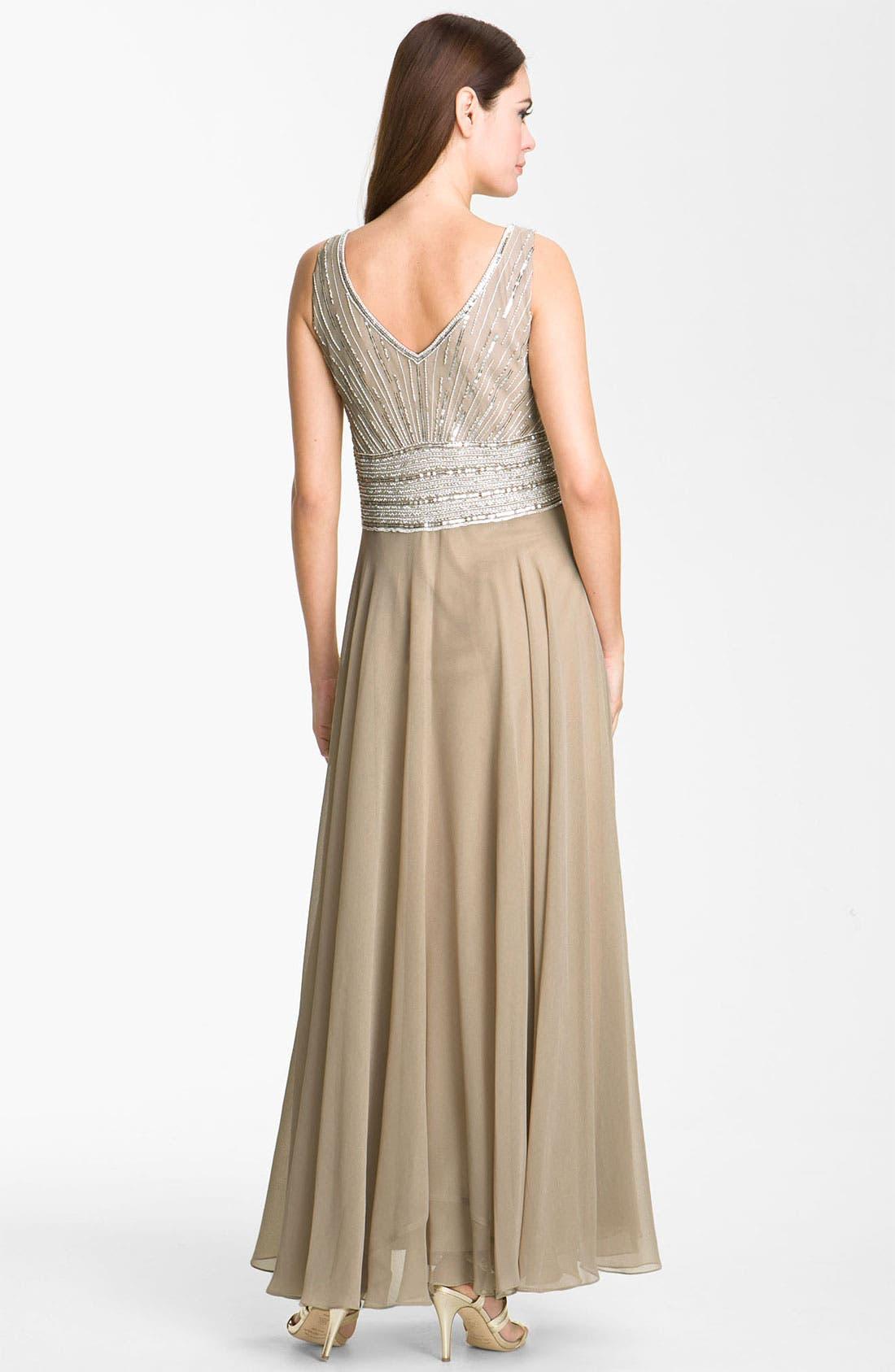 Alternate Image 3  - J Kara Embellished Chiffon Gown & Jacket