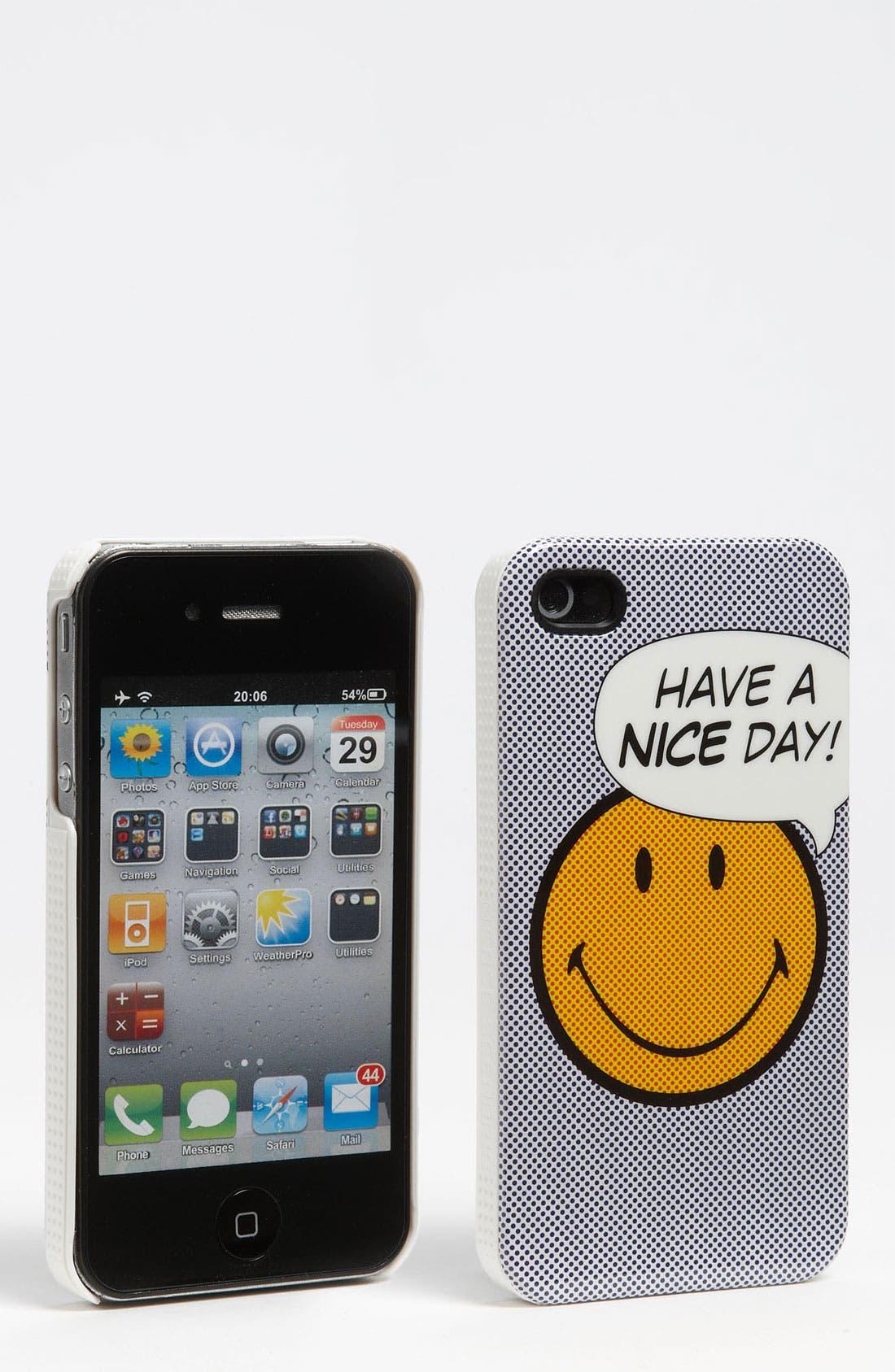 Alternate Image 1 Selected - Case Scenario 'Smiley' iPhone 4 & 4S Case