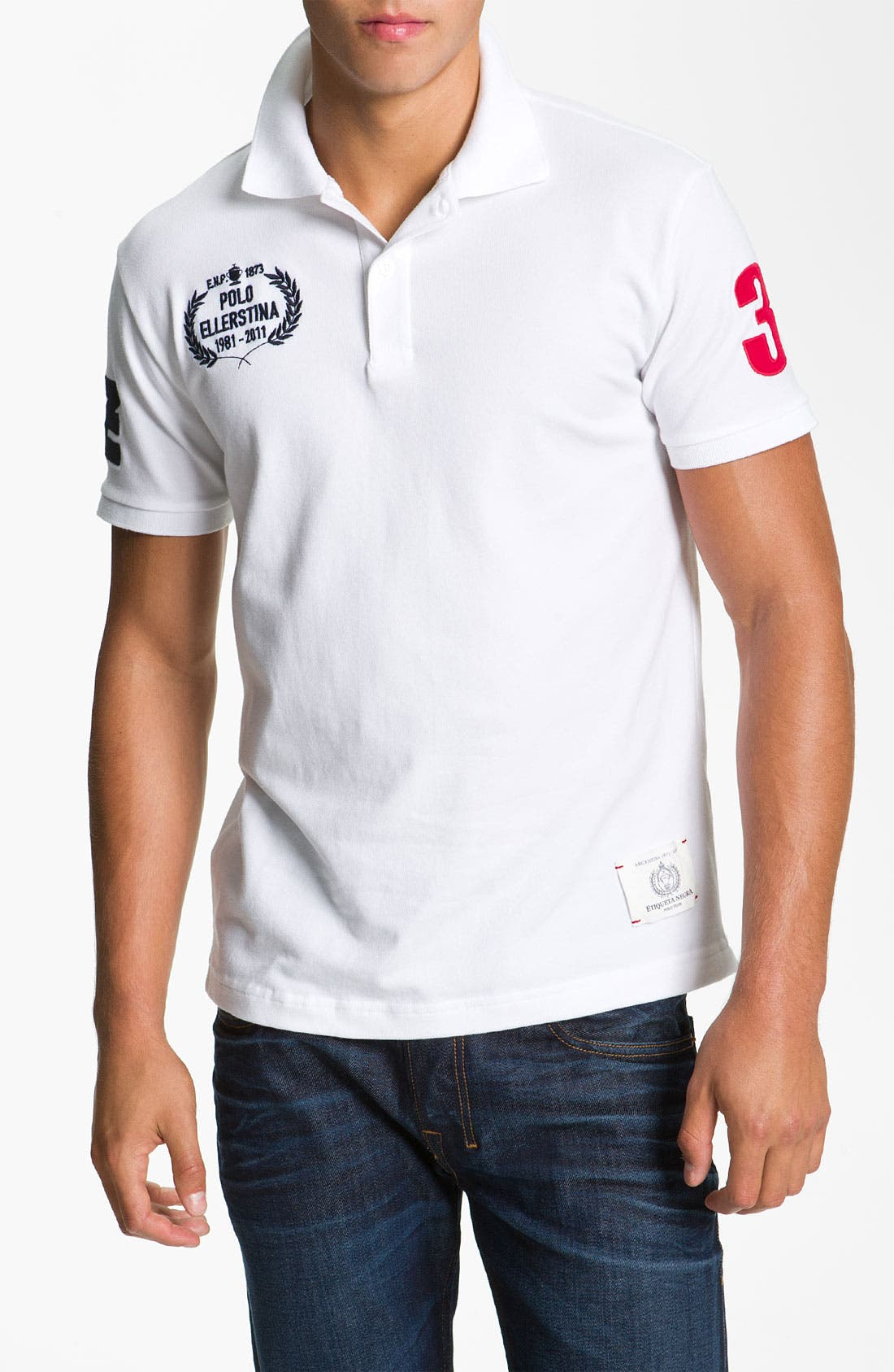 Alternate Image 1 Selected - Etiqueta Negra Short Sleeve Polo