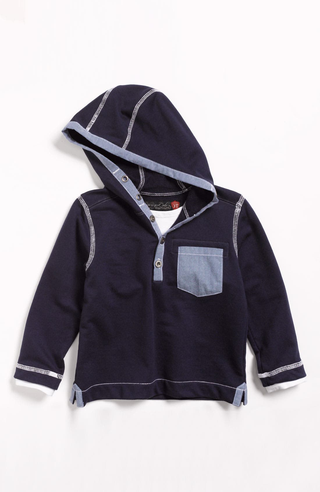 Alternate Image 1 Selected - Sovereign Code Henley Hoodie (Toddler Boys)
