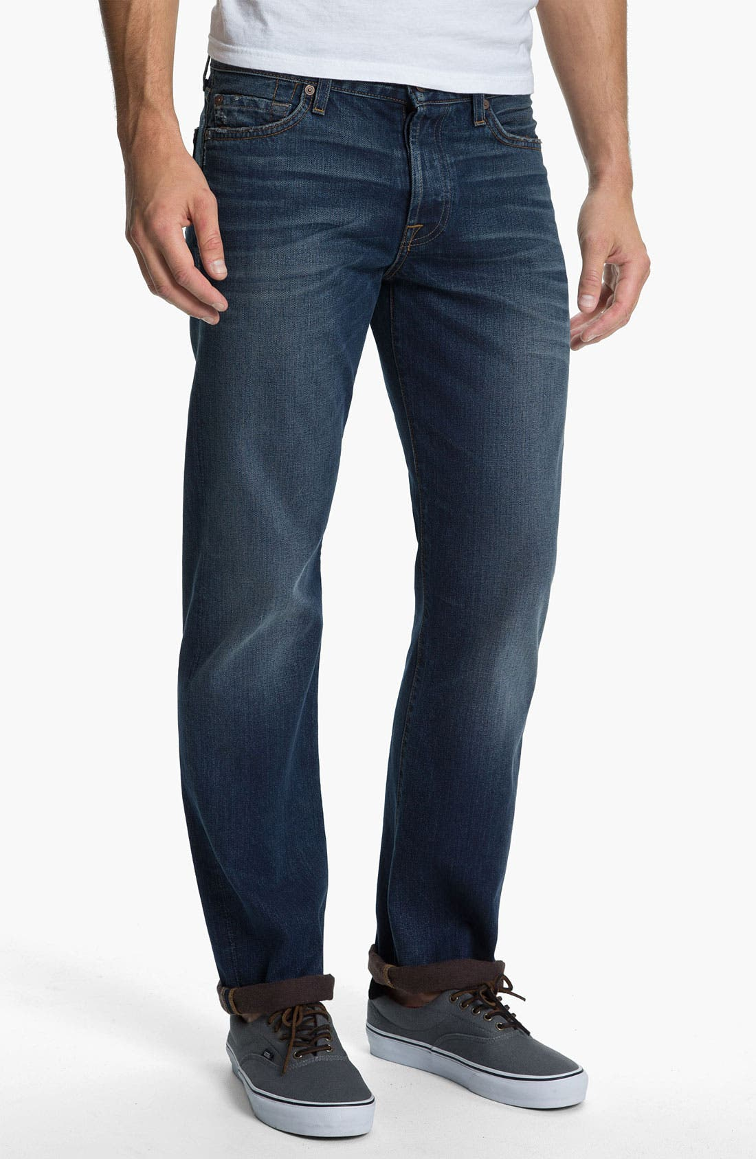Alternate Image 2  - 7 For All Mankind® Standard Straight Leg Jeans (Carmel Valley)