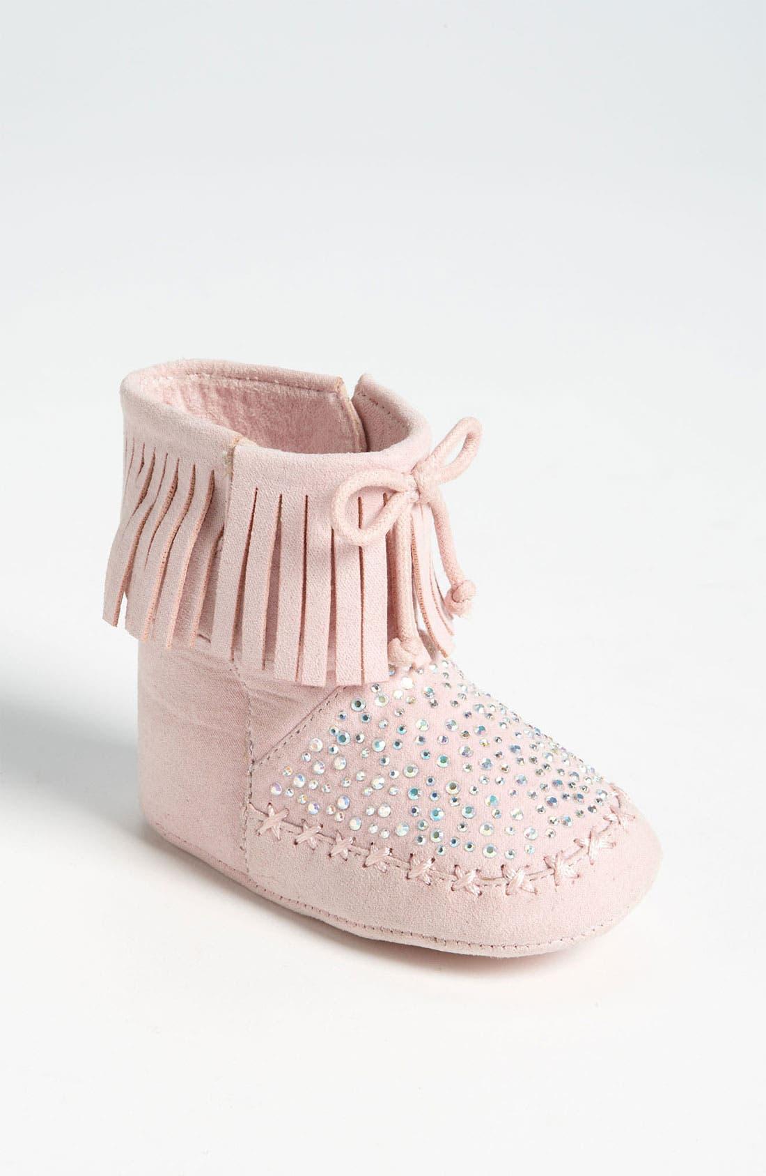 Main Image - Stuart Weitzman 'Baby Moctail' Crib Shoe (Baby)