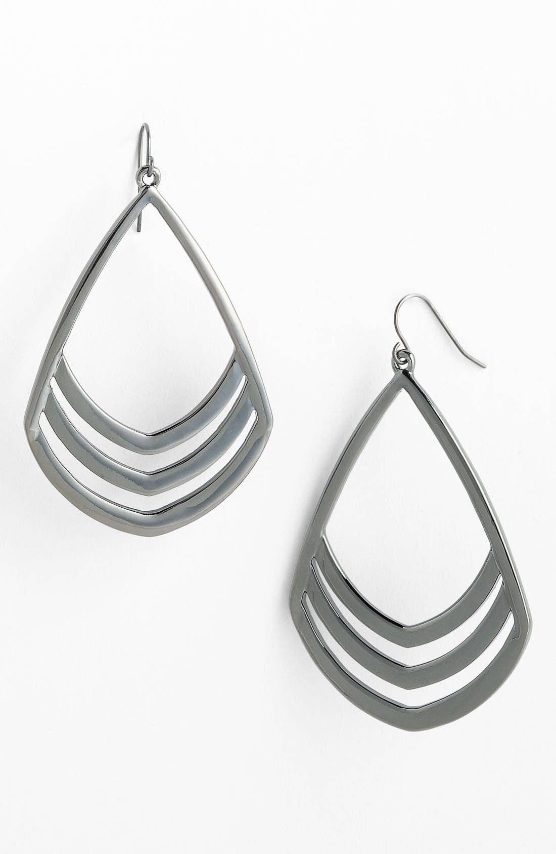 Alternate Image 1 Selected - Vince Camuto Open Teardrop Earrings