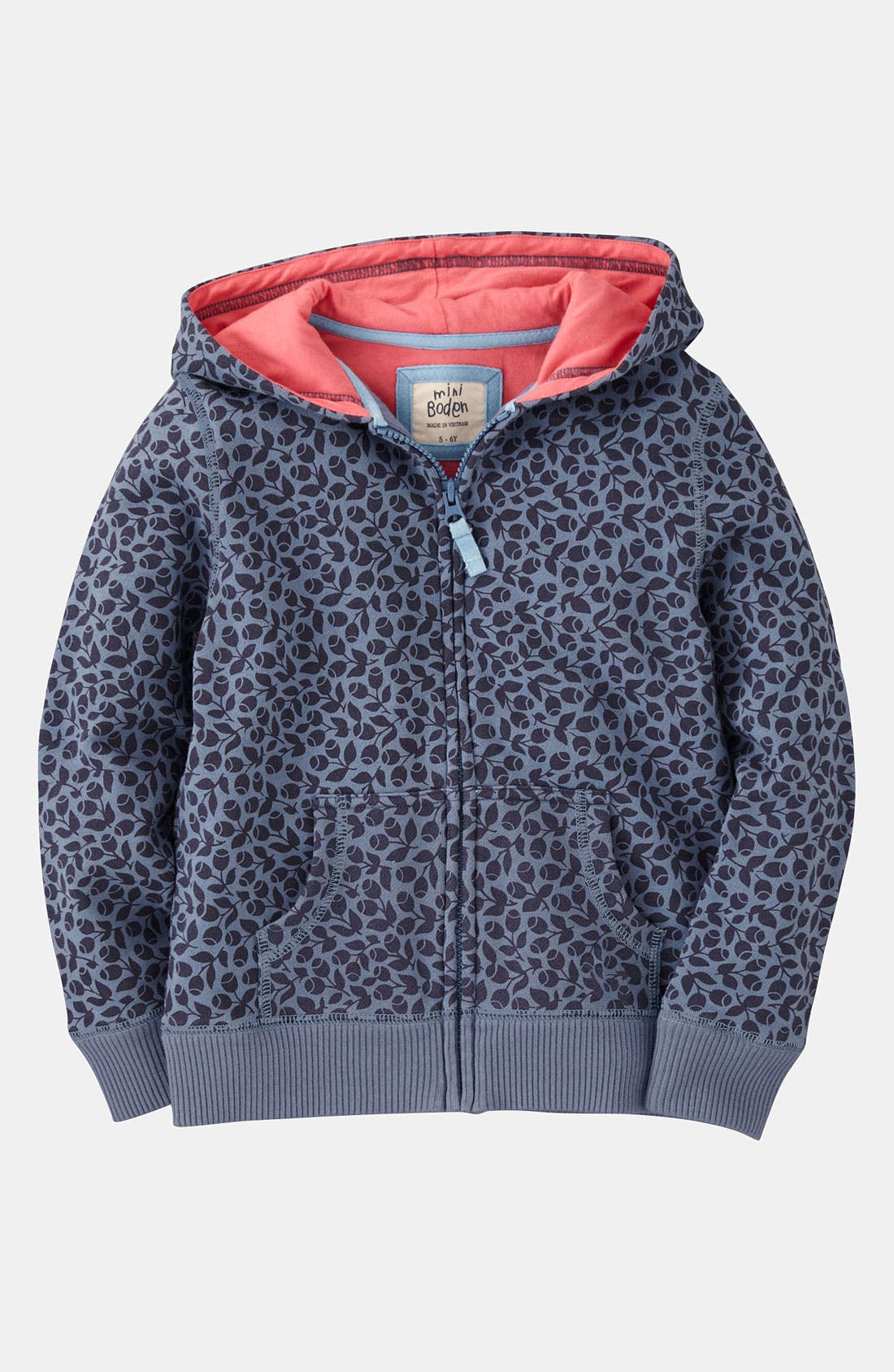 Alternate Image 1 Selected - Mini Boden Print Hoodie (Toddler, Little Girls & Big Girls)