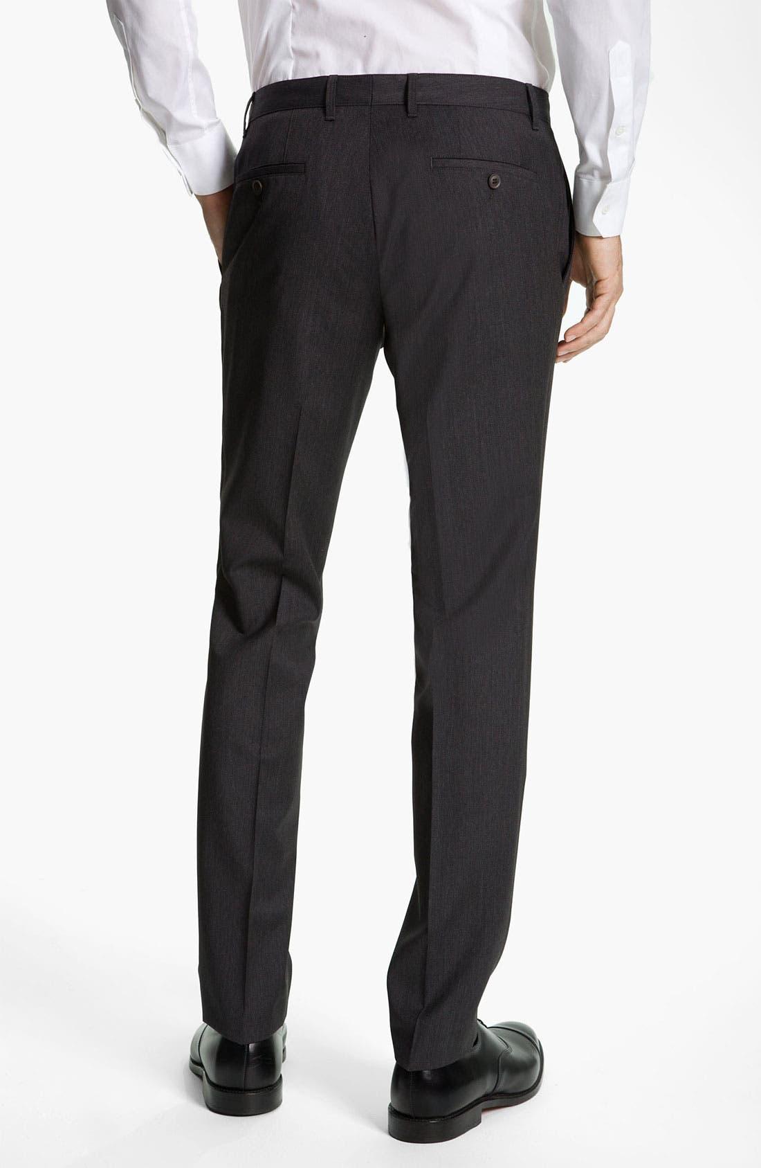 Alternate Image 2  - BOSS Black 'Winng' Extra Slim Wool Trousers